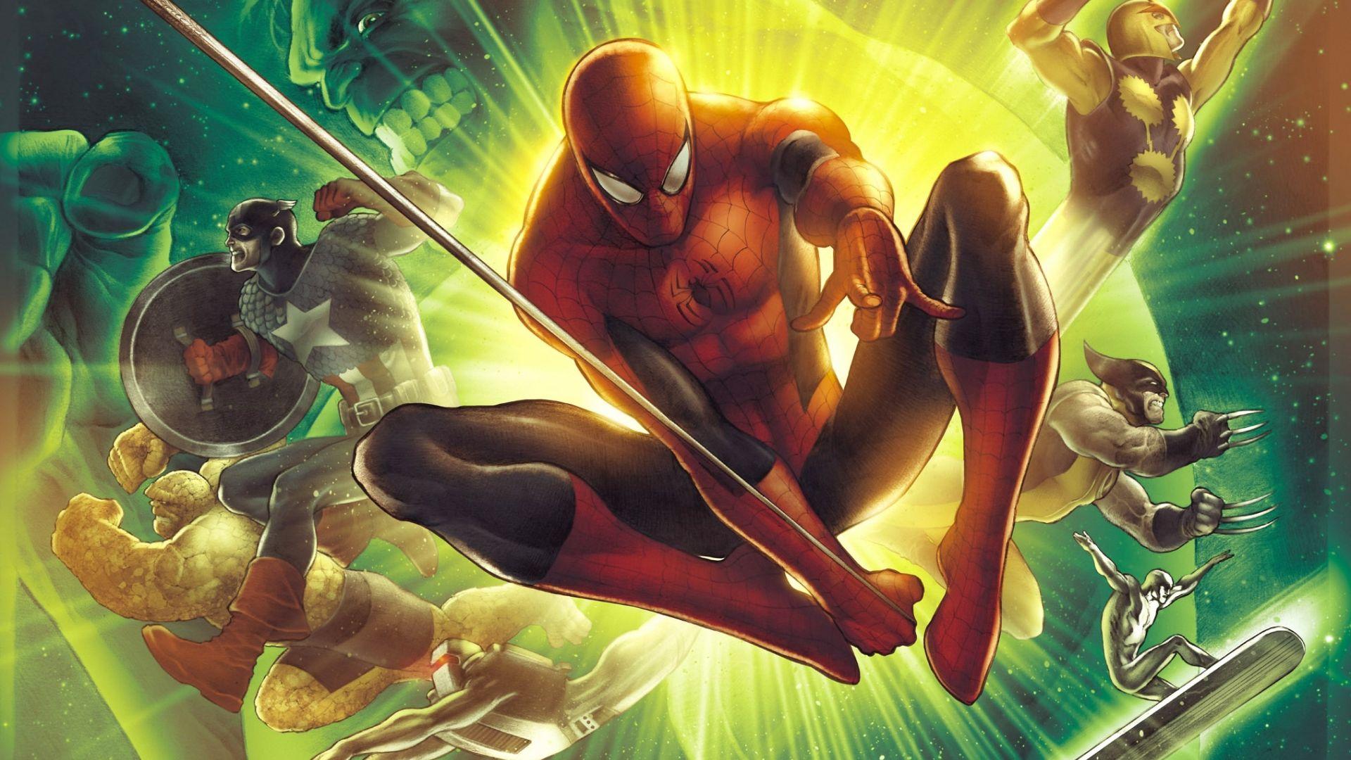 Wallpaper Superhero, marvel comics