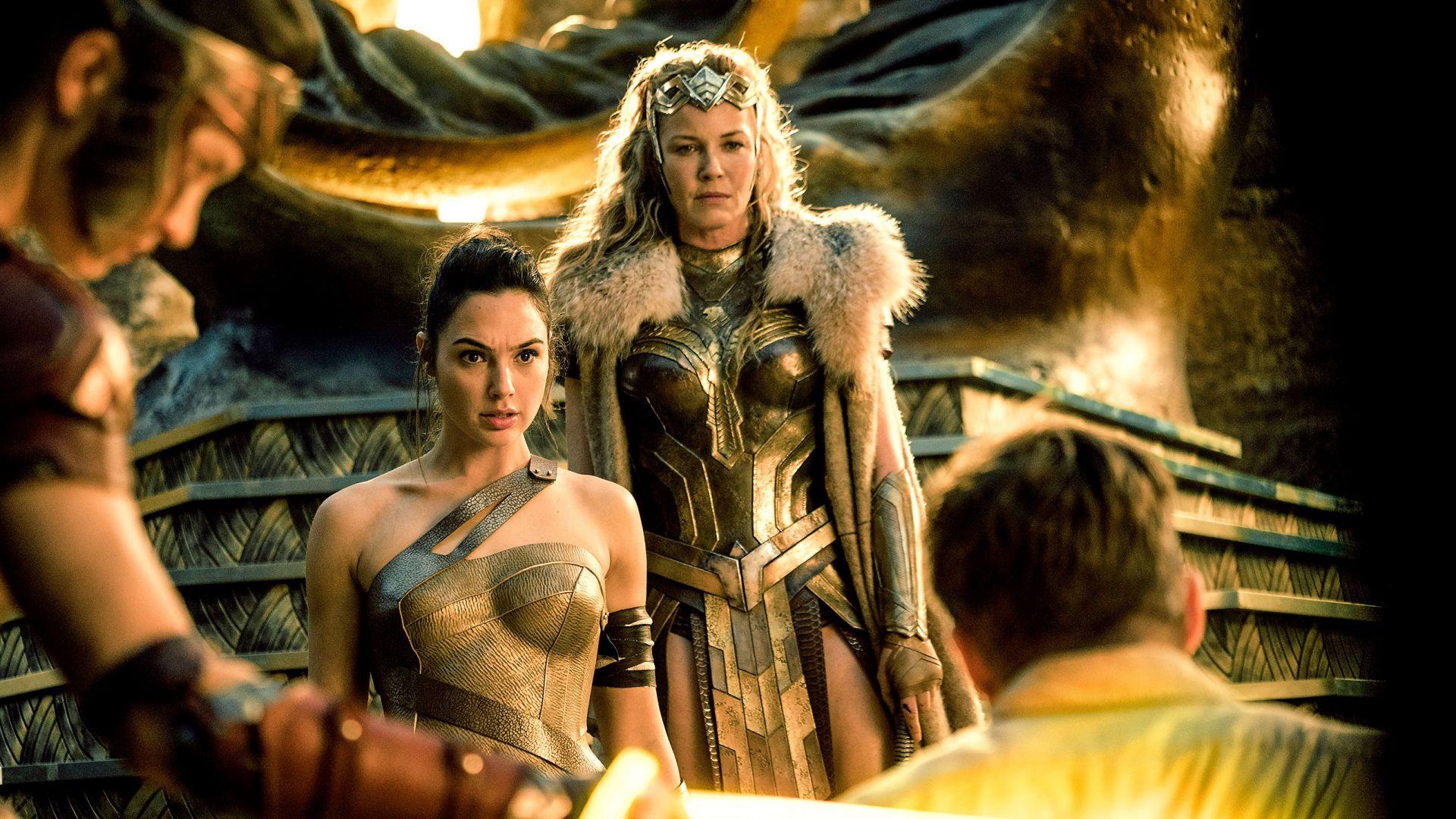 Wallpaper Wonder woman, Connie Nielsen, Gal Gadot, movie