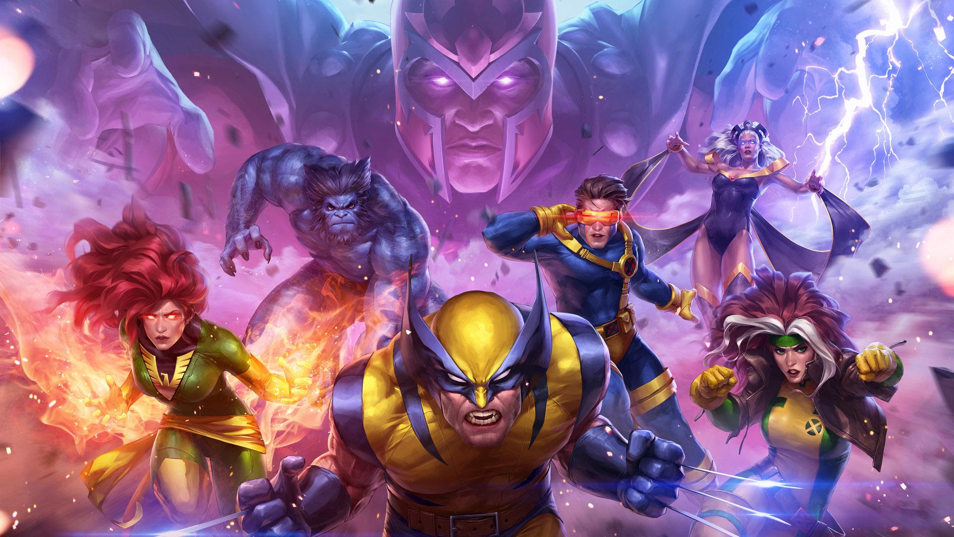 Wallpaper X-Men team, superhero, wolverine