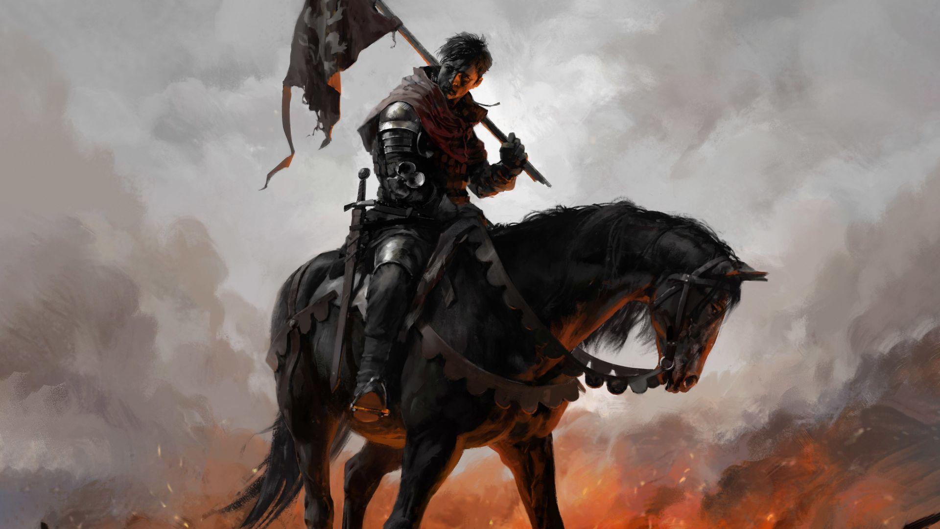 Wallpaper Kingdom Come: Deliverance, 2017 game, horse