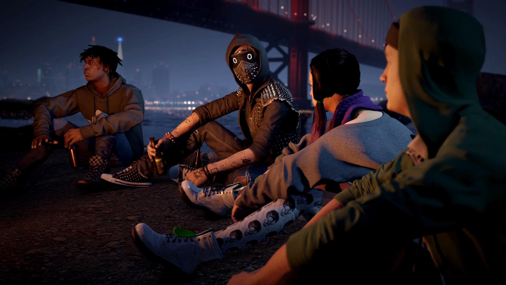 Wallpaper Golden Gate, Watch Dogs 2, gang, video game