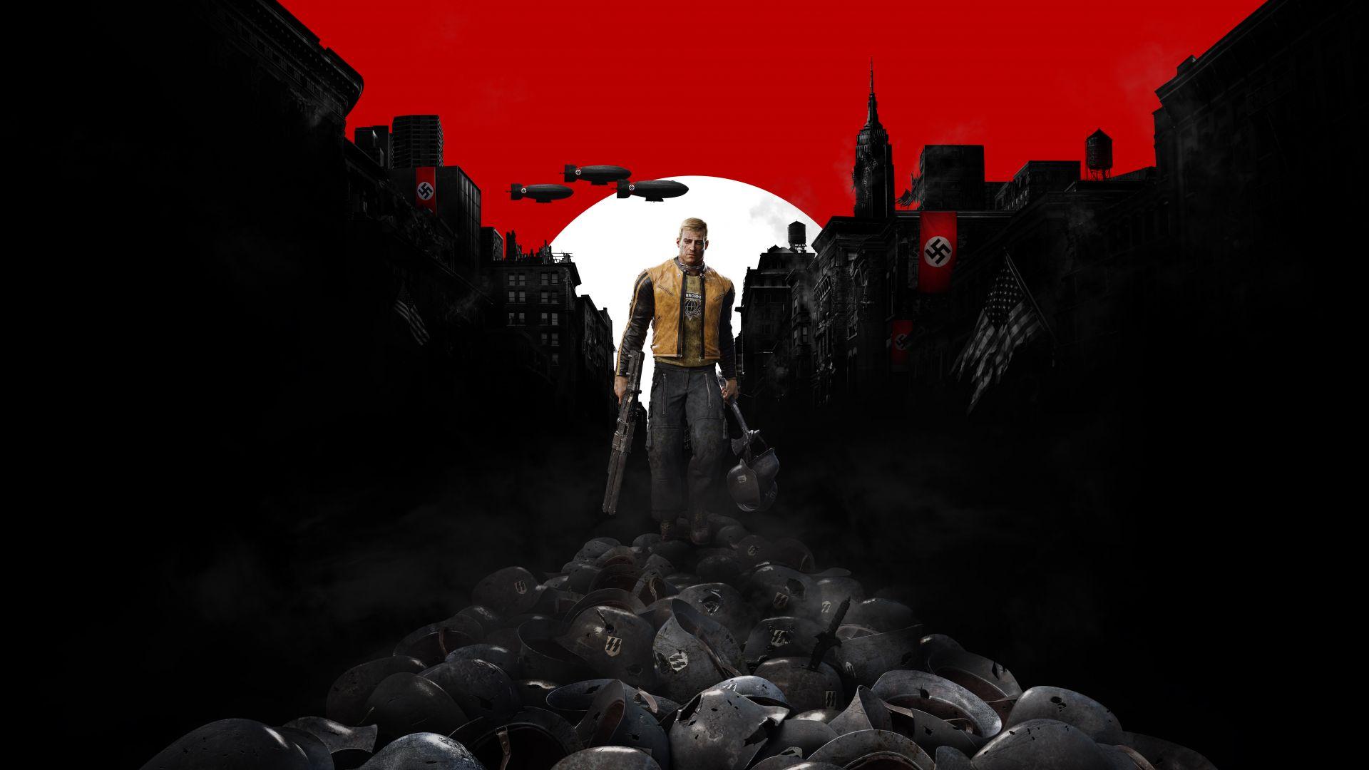 Wallpaper Wolfenstein 2: The New Colossus, video game, walk