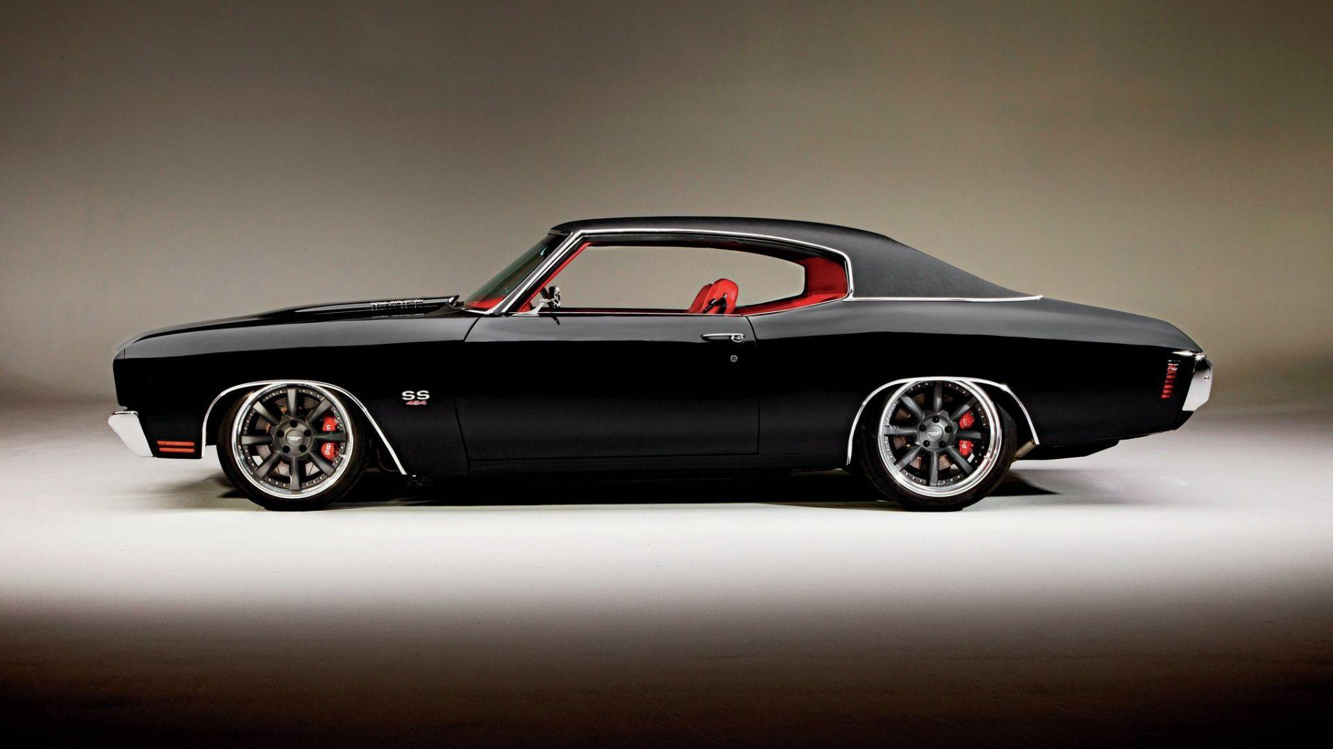 Wallpaper Chevrolet Chevelle Black car