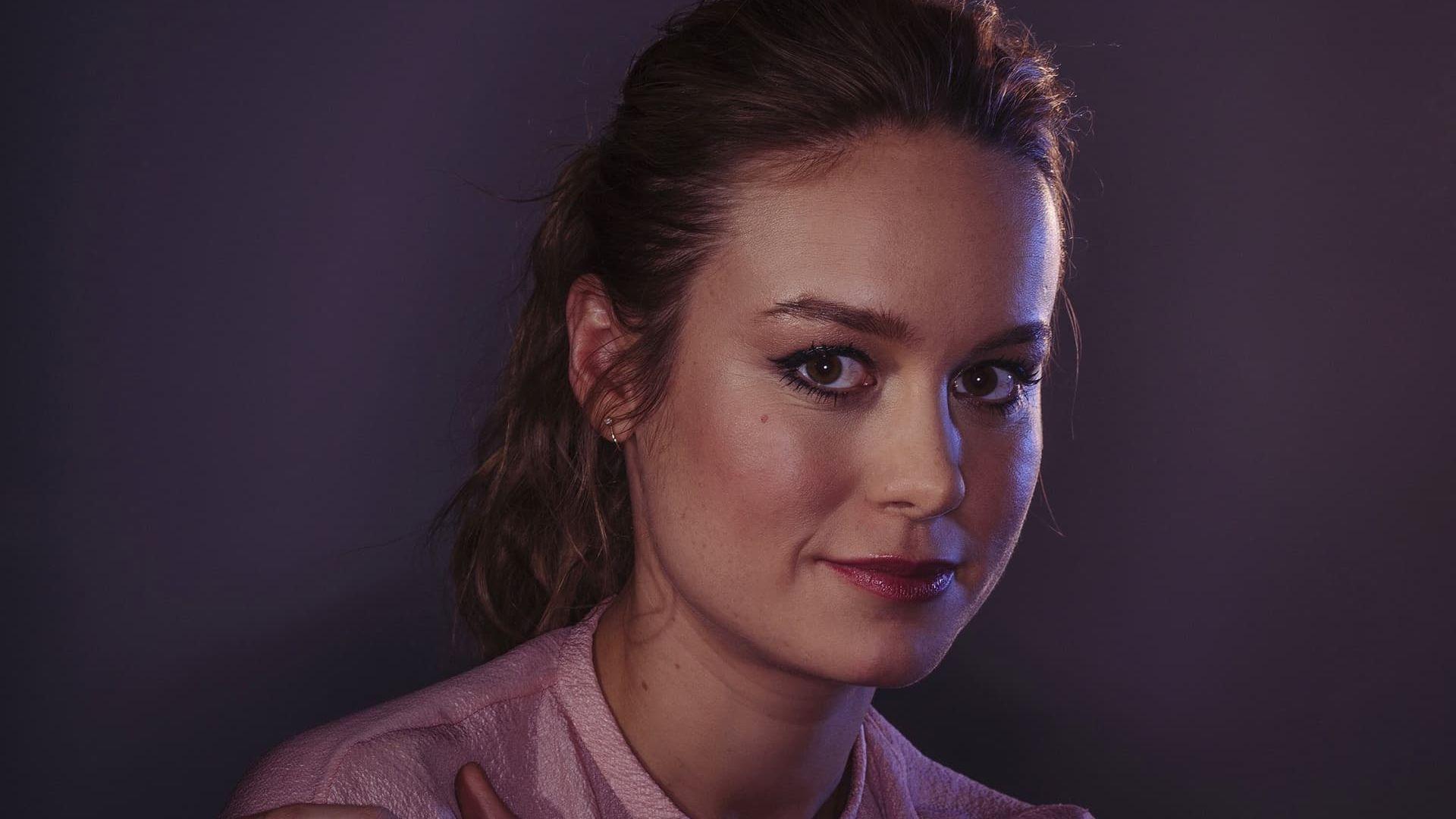 Wallpaper Brie Larson, brunette, face