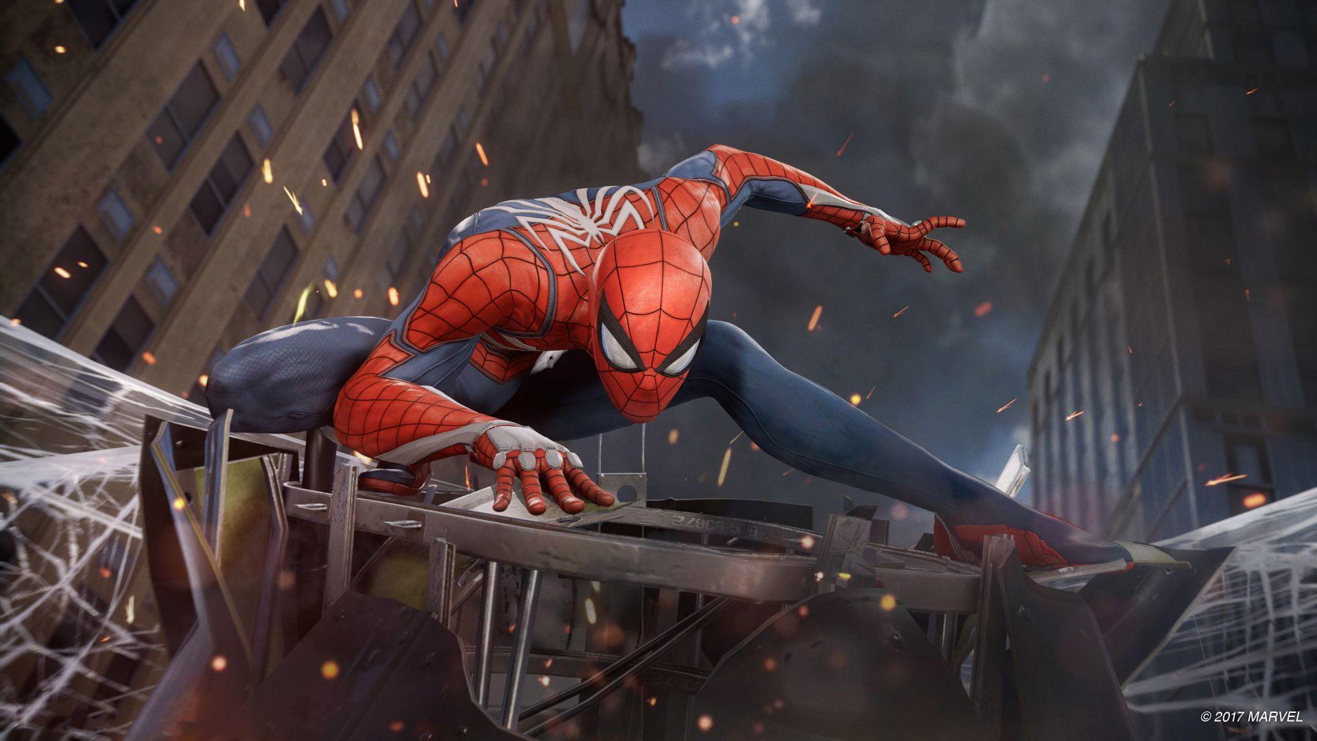 Wallpaper Spiderman PS4, 2017 video game, 4k