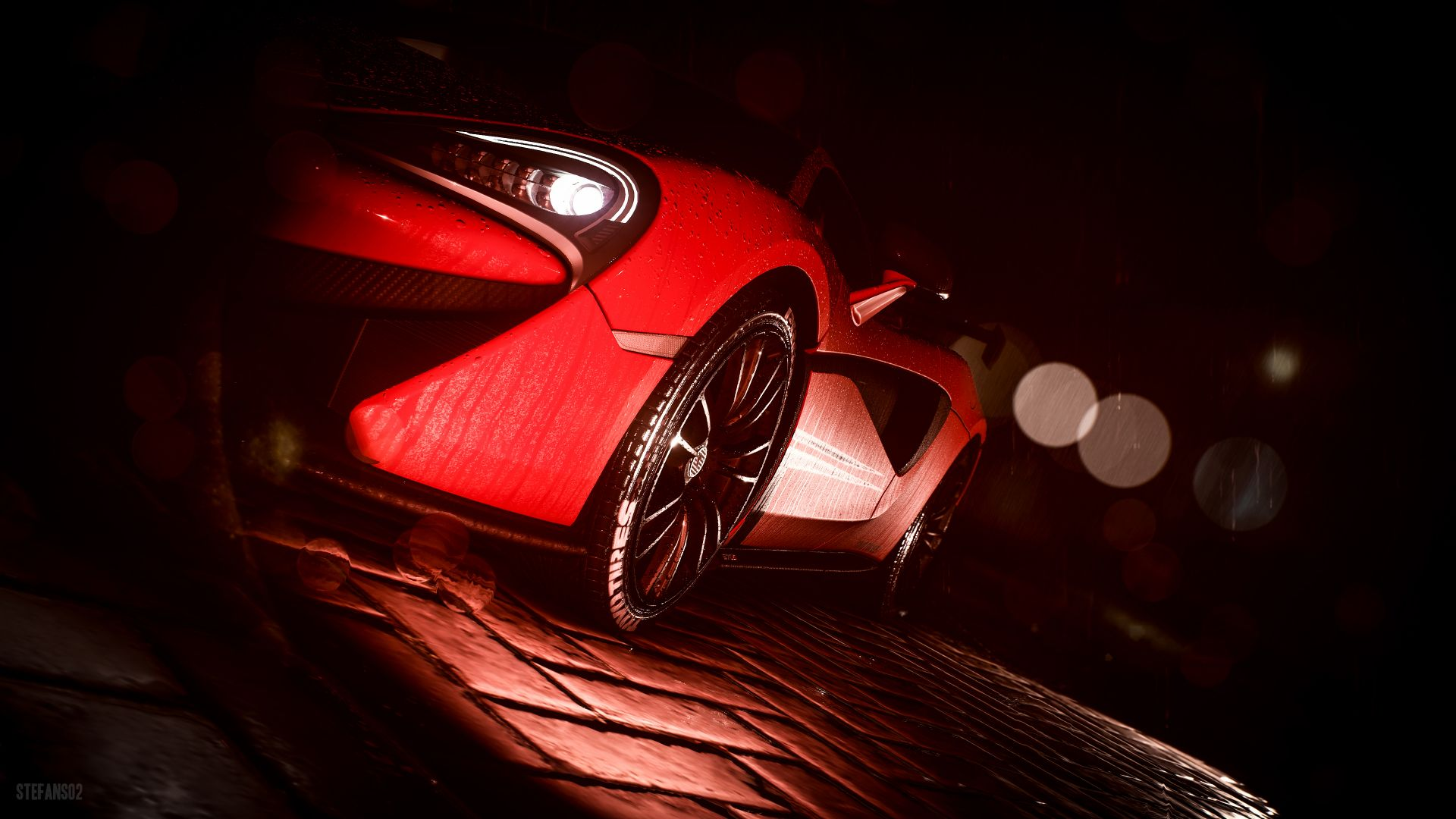 Wallpaper Need for speed, game, car, side view, red