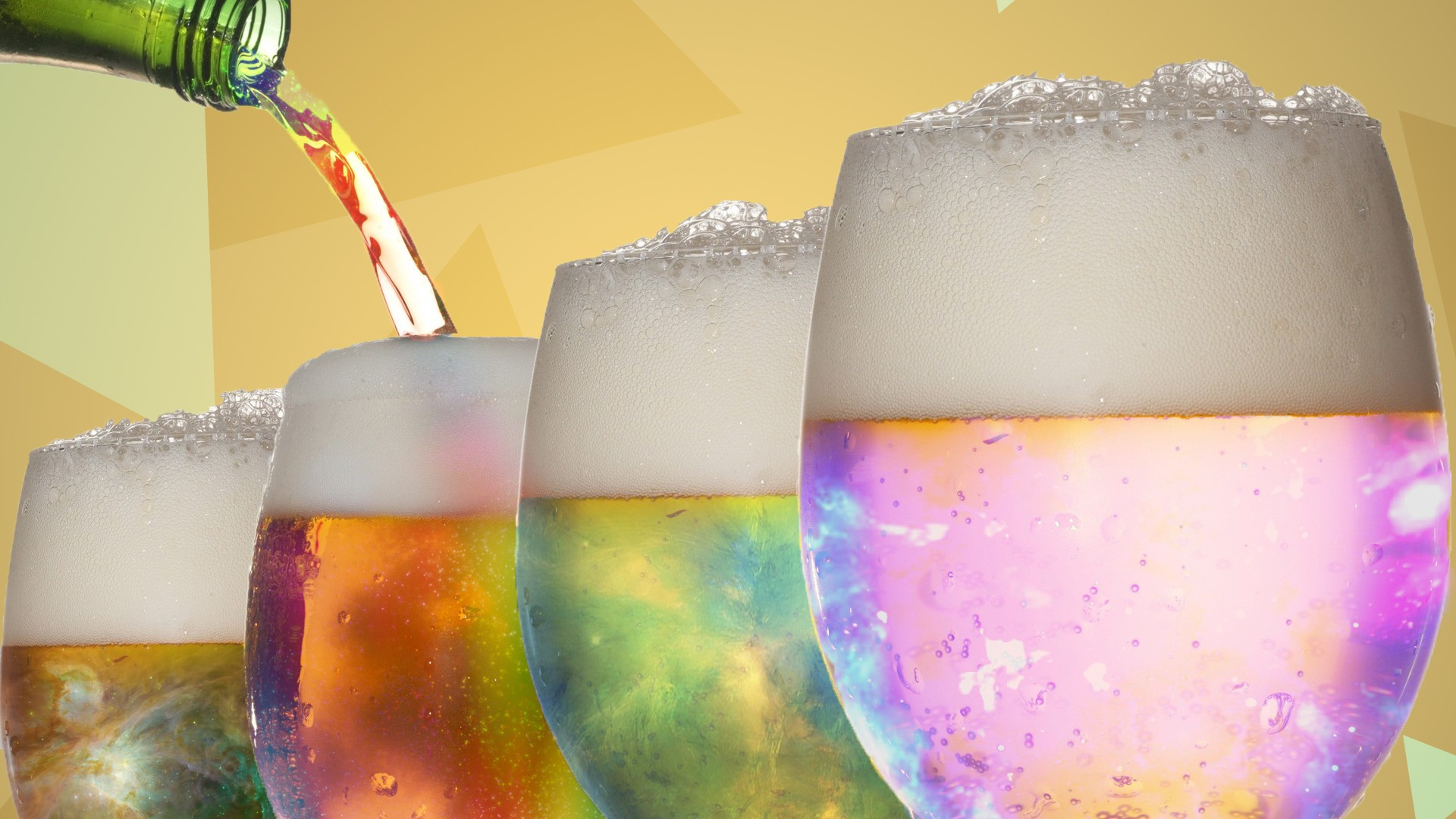 Wallpaper Colorful Beer glass