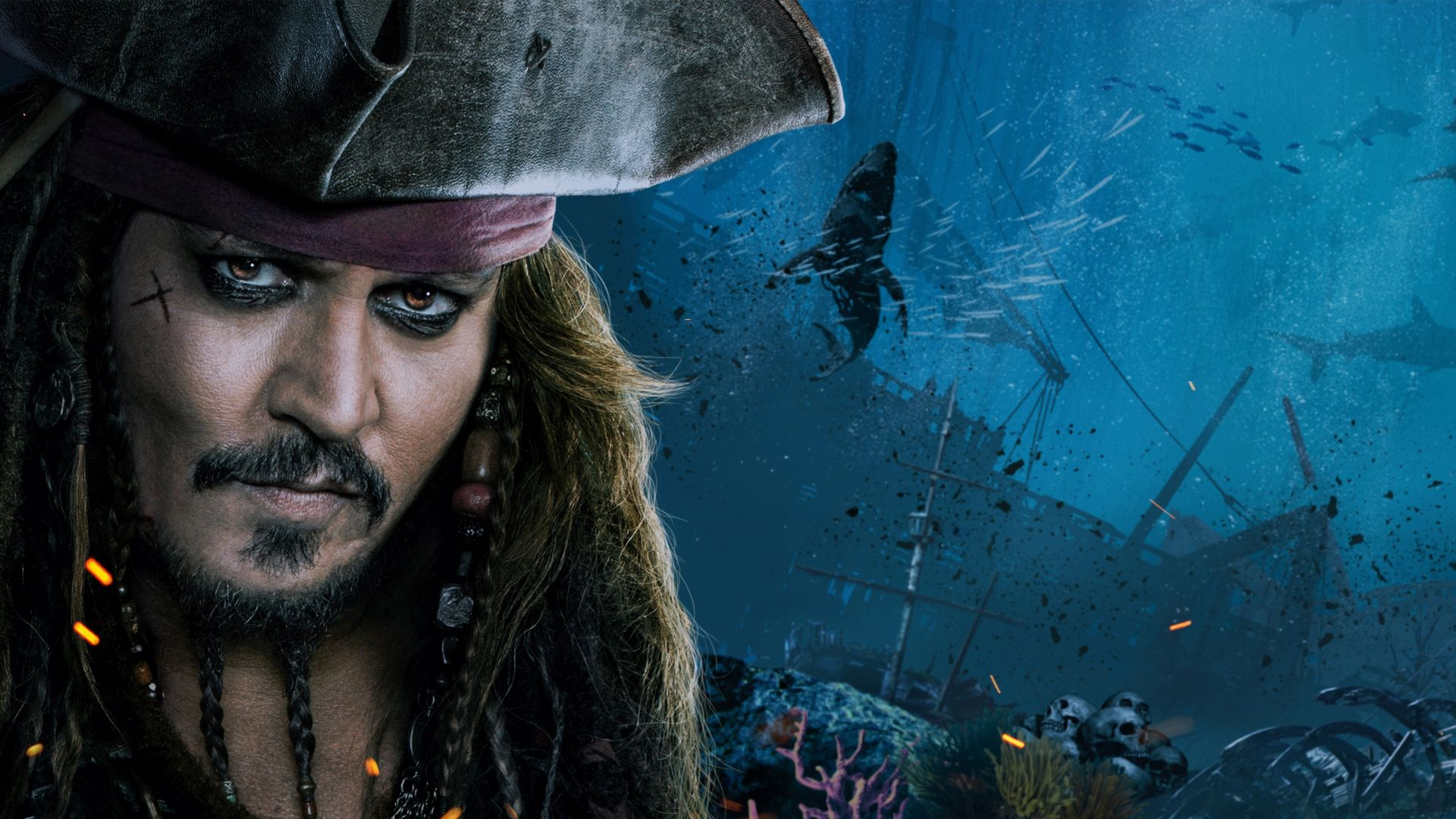 Dead Men Tell No Tales Wallpaper: Desktop Wallpaper Johnny Depp, Pirates Of The Caribbean