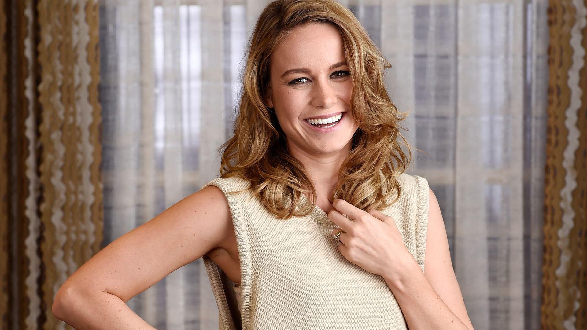 Wallpaper Blonde celebrity, Brie Larson, smile