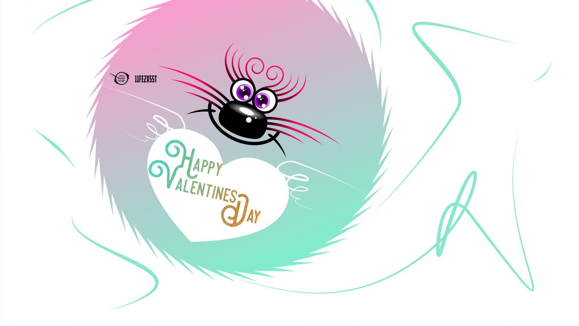 Wallpaper Valentines day, funny art
