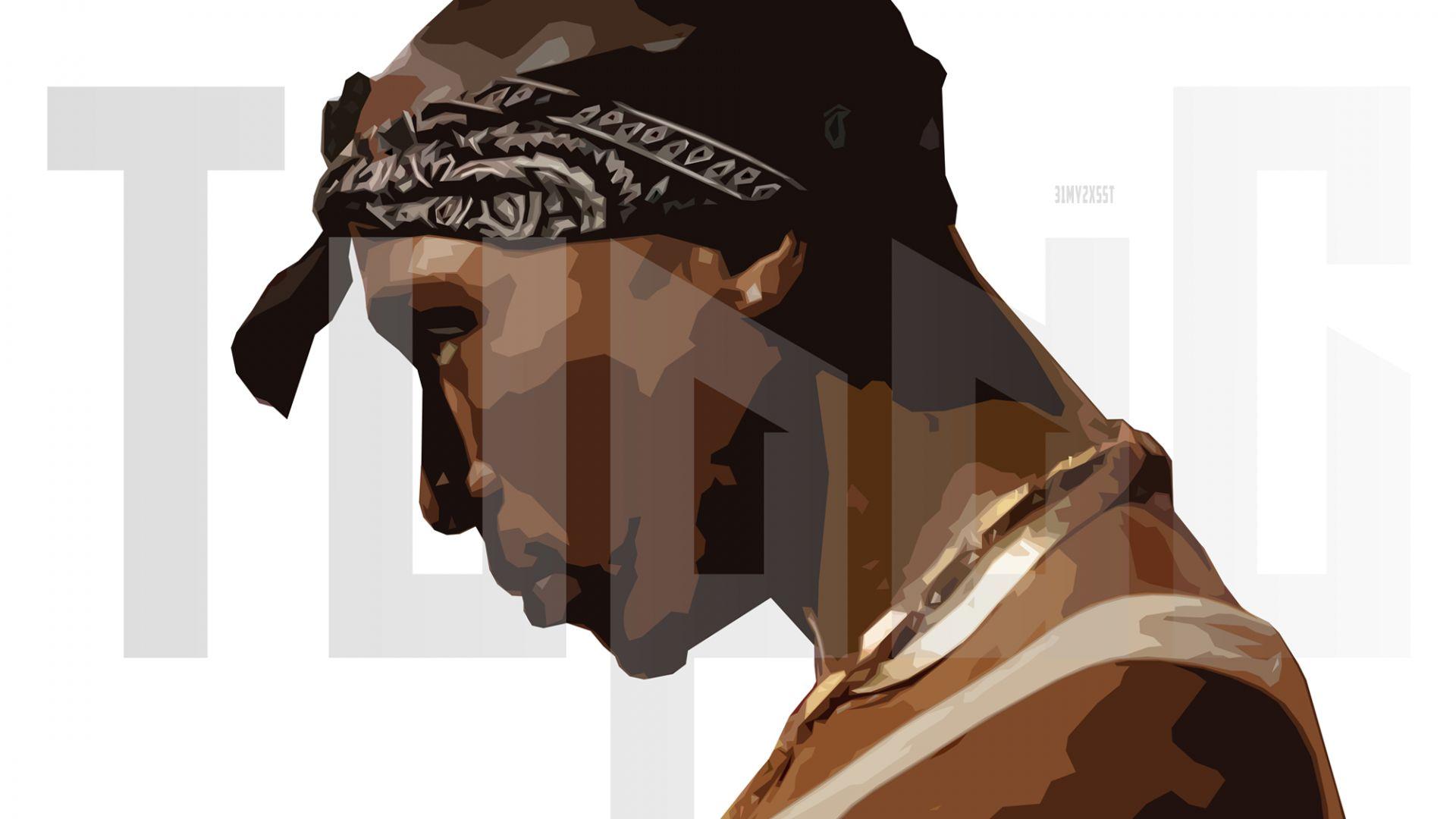 Wallpaper Tupac shakur, rapper, singer, art