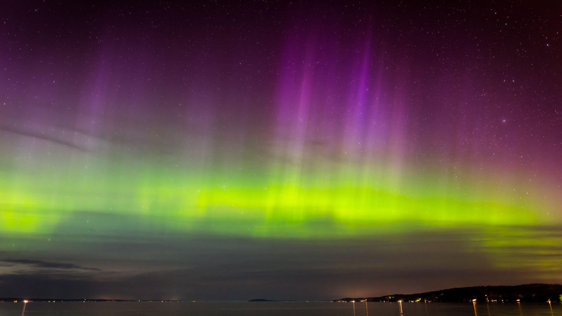 aurora northern lights borealis nature night