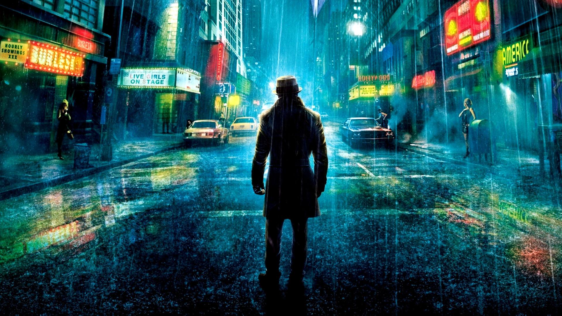 Wallpaper Watchmen, movie, city, night, lights