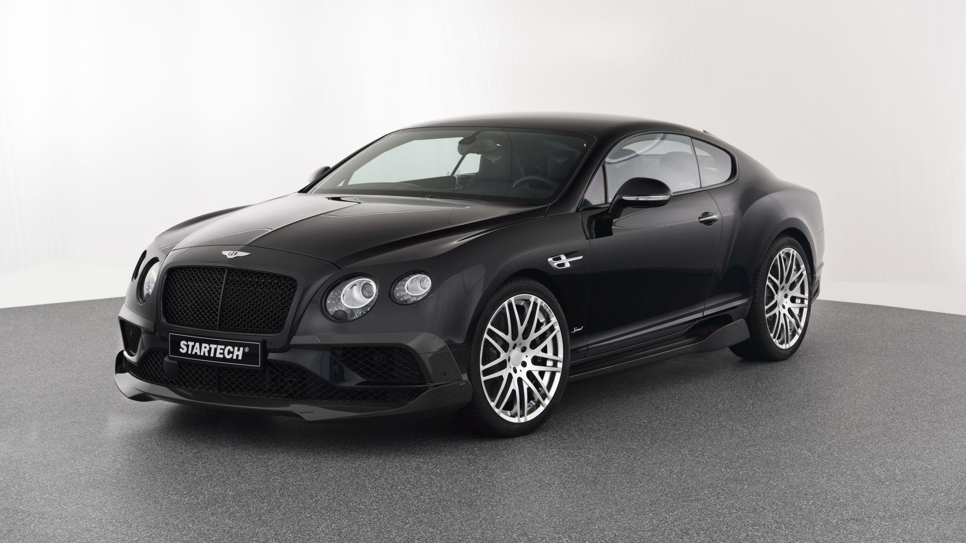 Wallpaper Black Bentley Continental GT, luxury car
