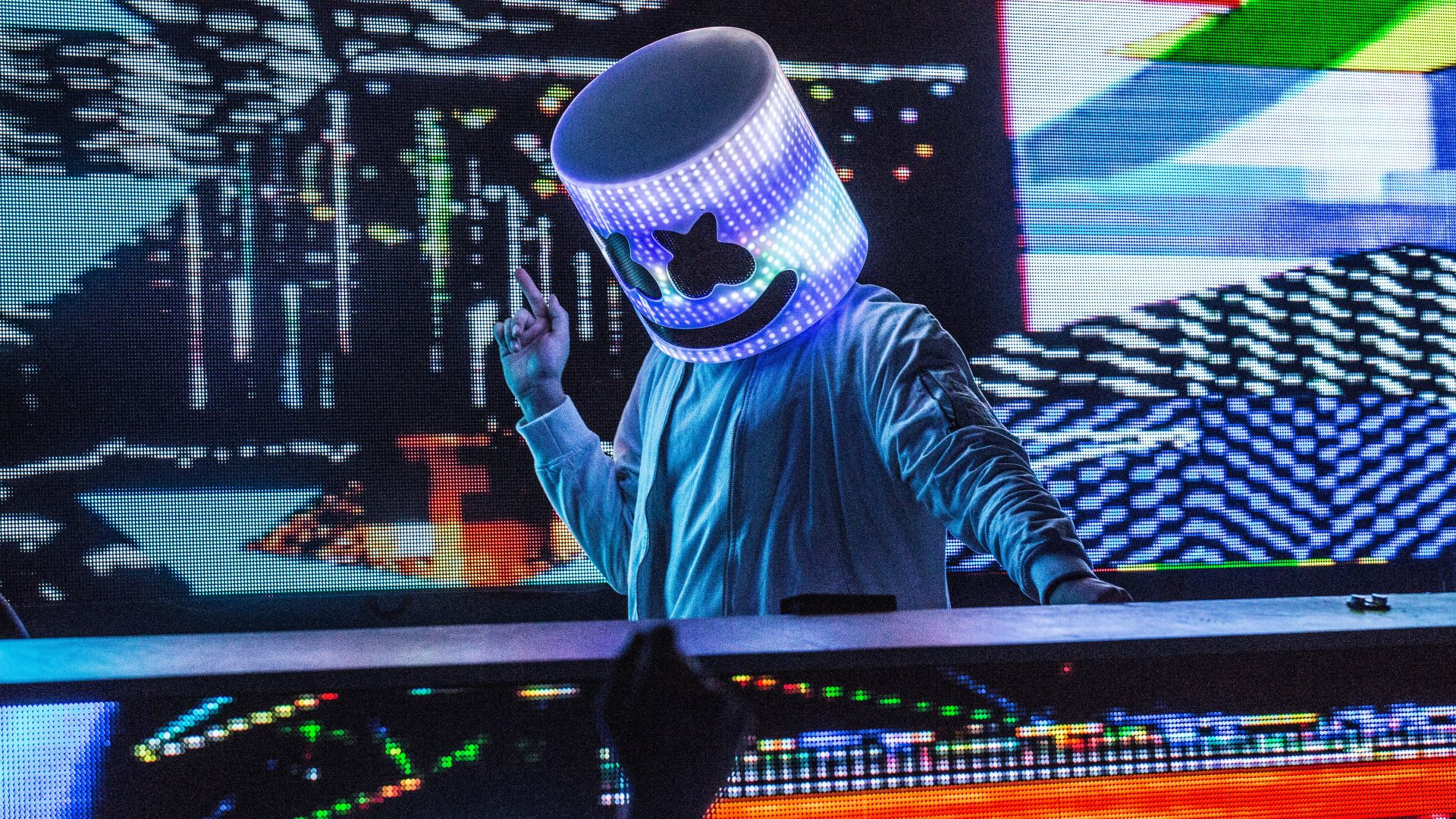 Wallpaper Marshmello, DJ, party, 4k