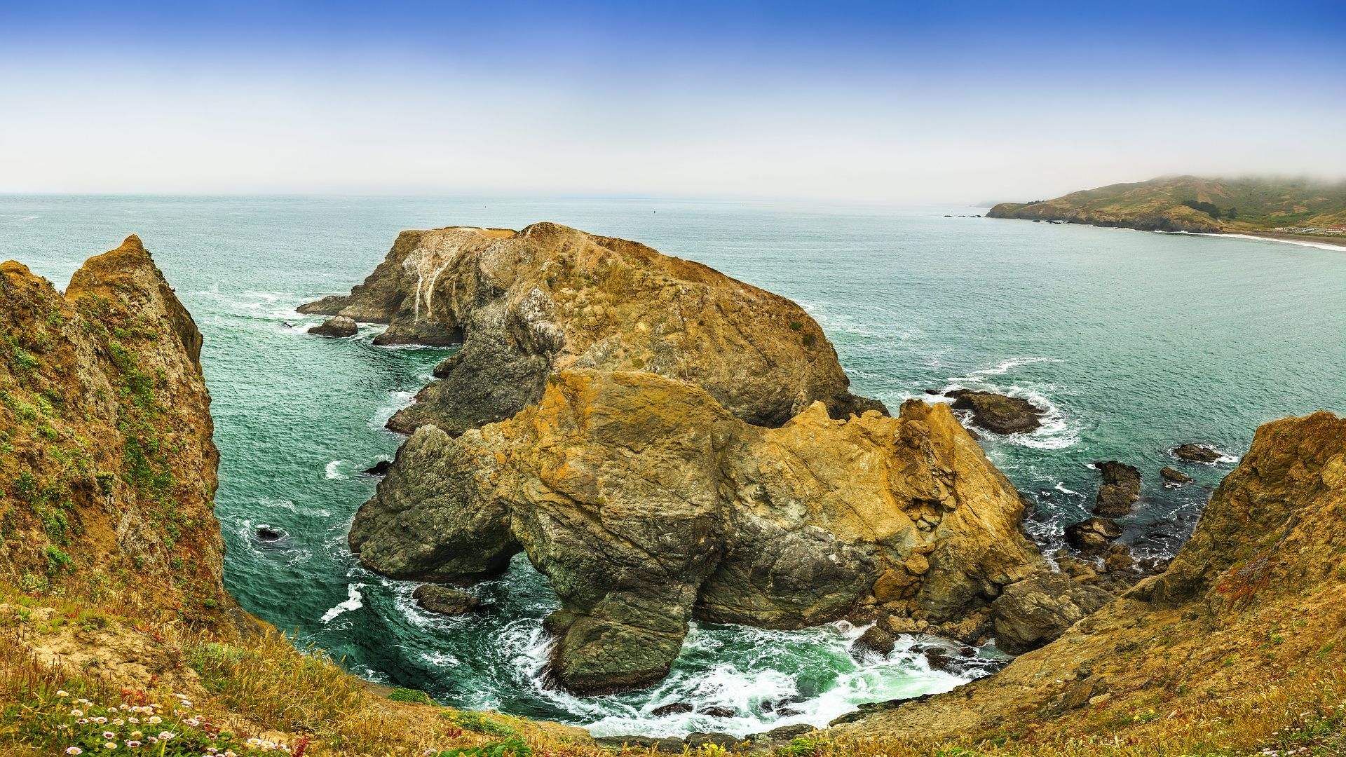 Wallpaper Ocean, beach, nature, rocky shore