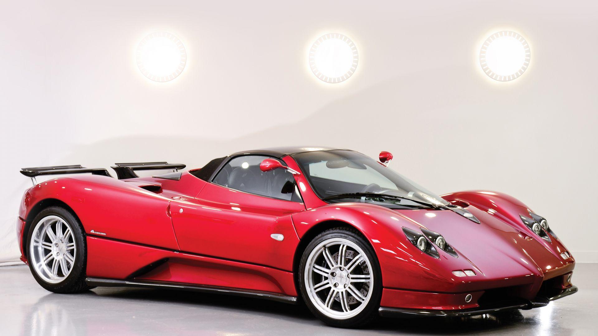 Wallpaper Pagani Zonda C12, roadster, red sports car
