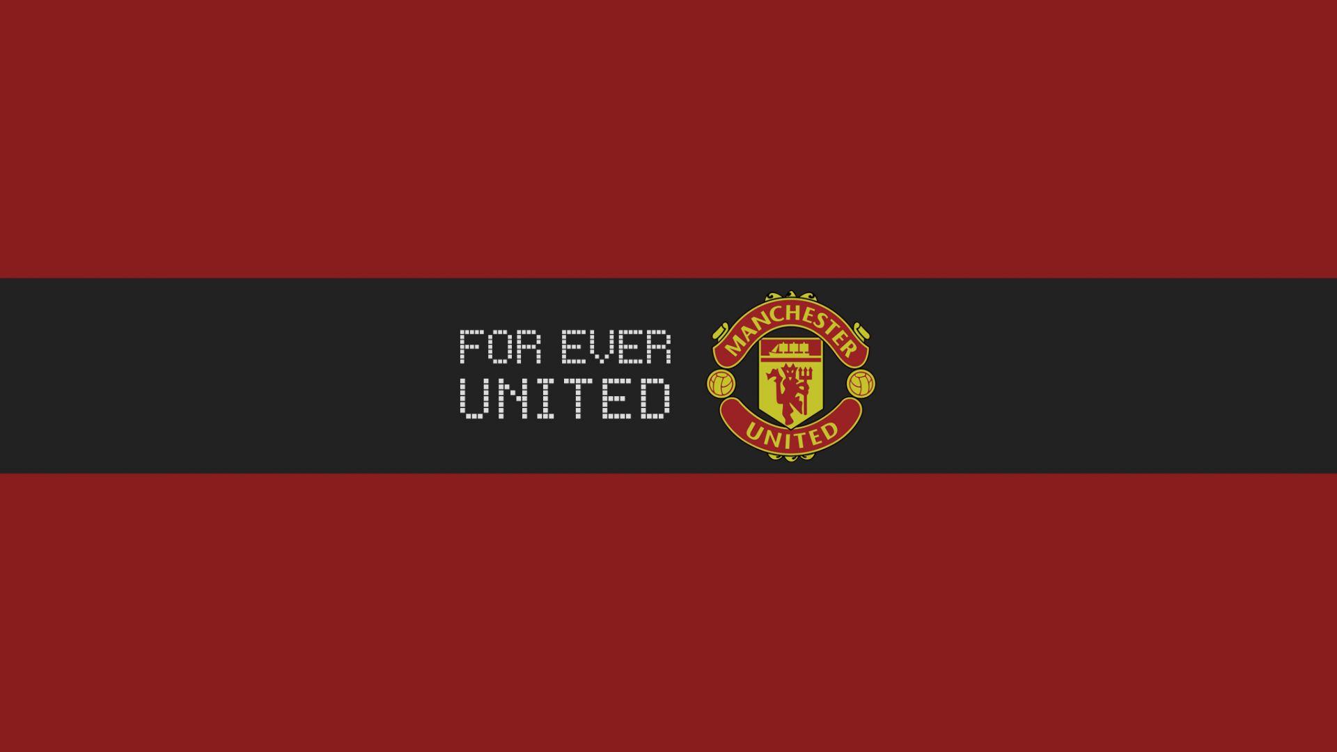 Wallpaper Manchester United football team logo