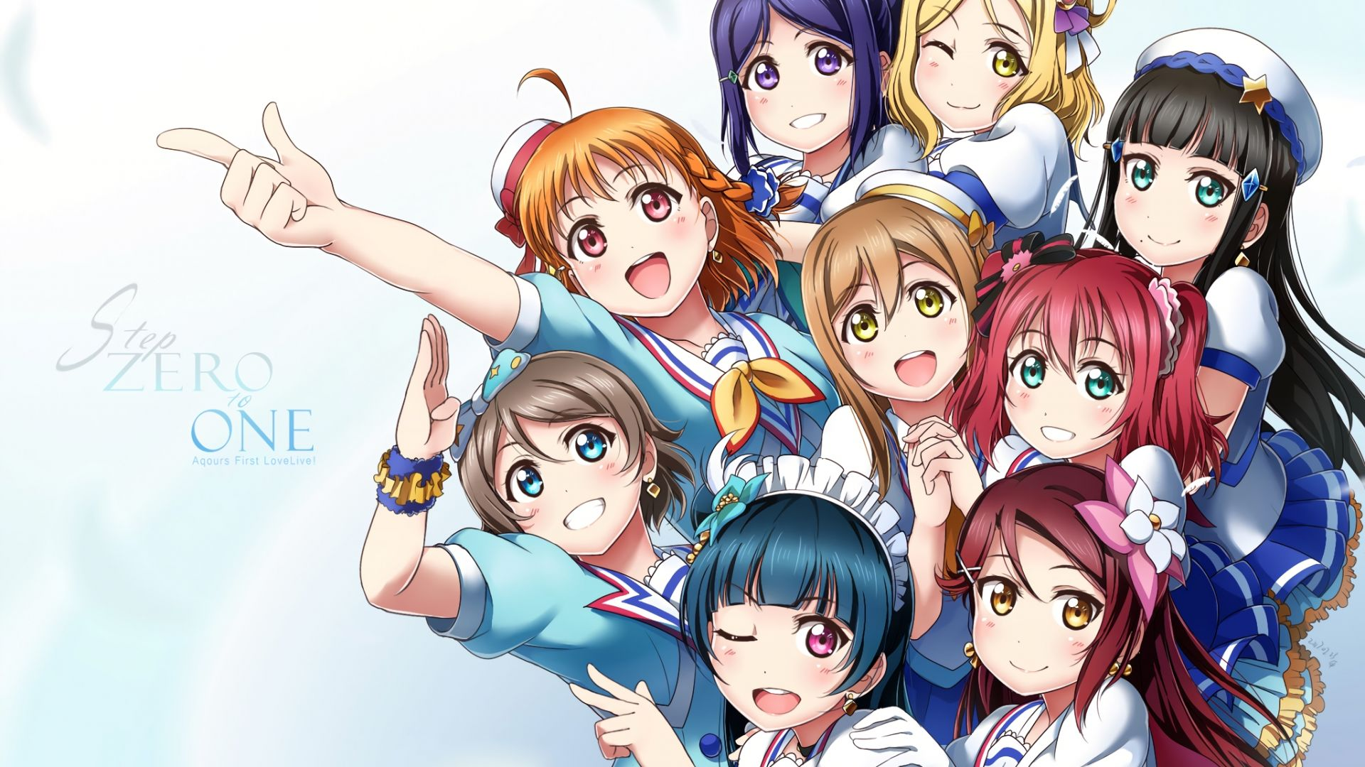 Wallpaper Love Live! Sunshine!!, anime girls