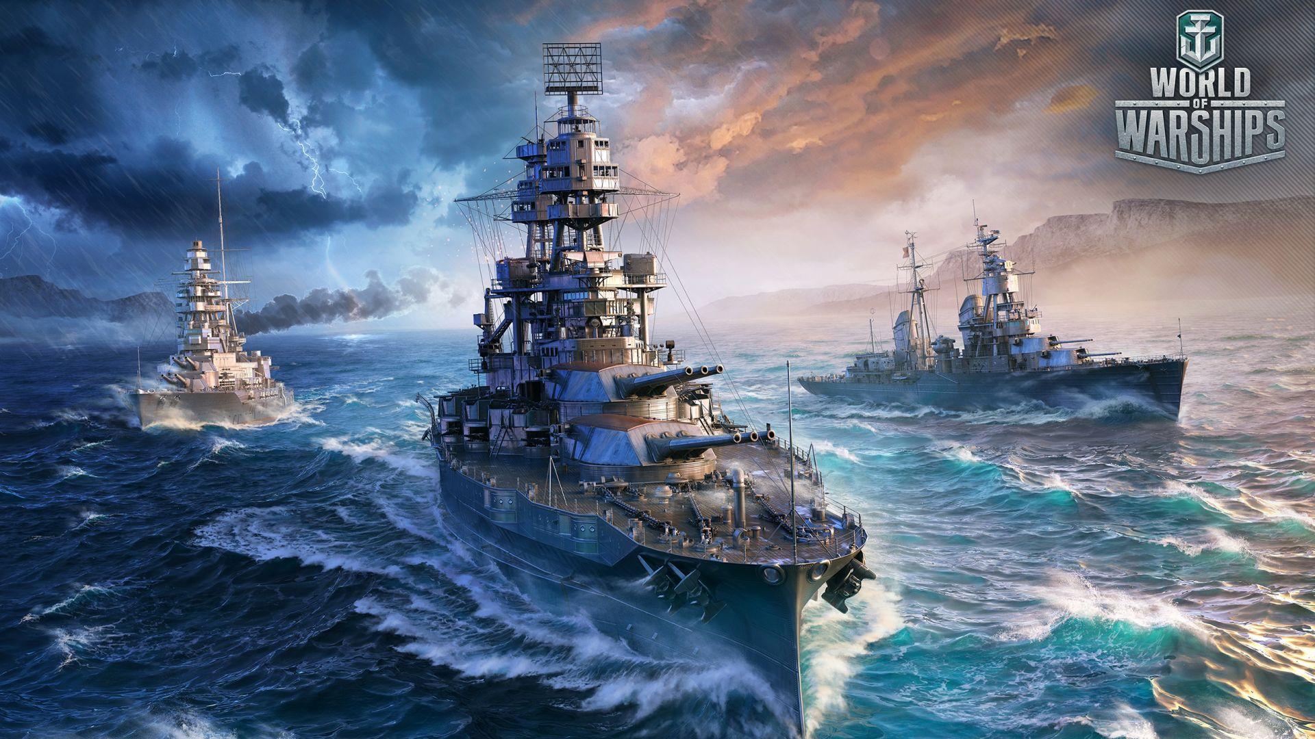 Wallpaper World of Warships, 2017 online game, ships