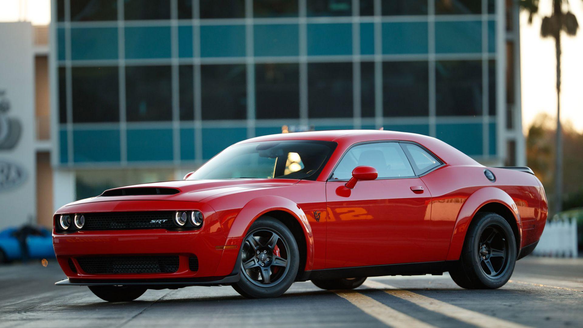 Wallpaper Dodge Challenger SRT Demon, side view, muscle car
