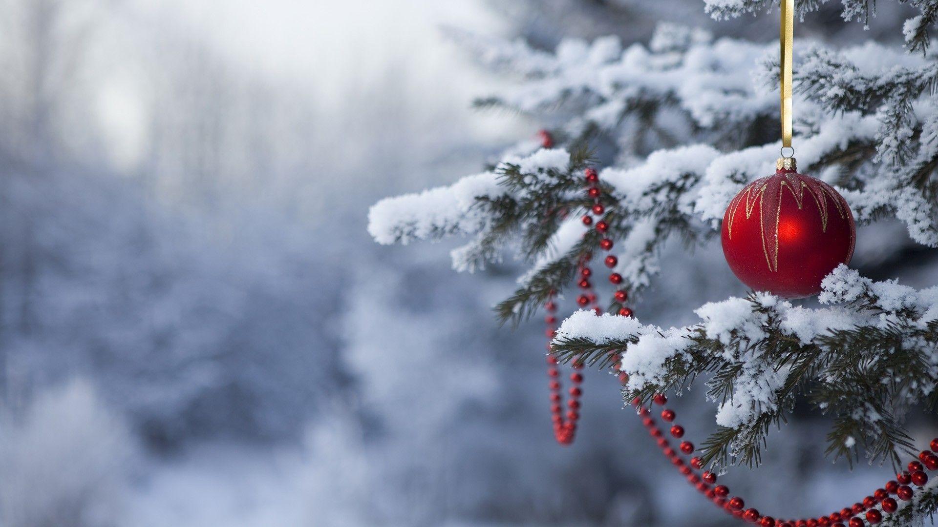 Wallpaper Christmas ornaments