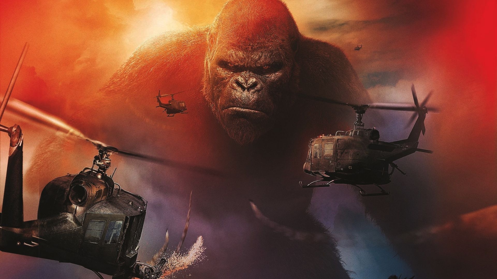 Desktop Wallpaper Kong Skull Island 2017 Movie Monkey