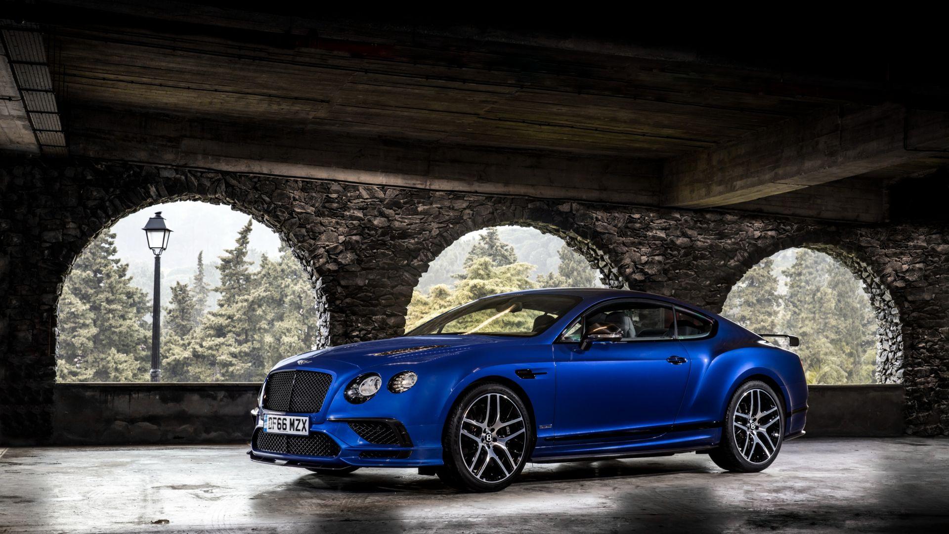 Wallpaper Bentley Continental GT, blue luxury car