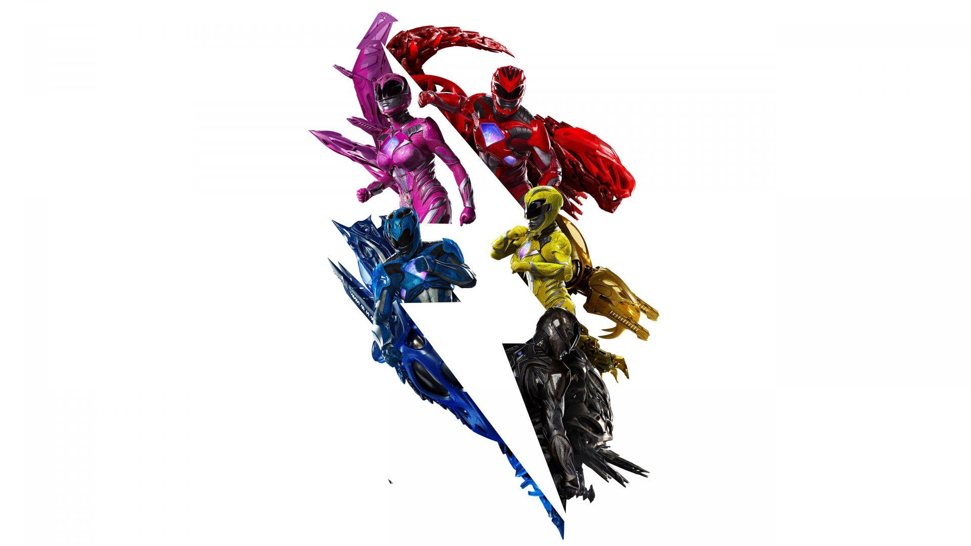 Wallpaper Zord, Power Rangers, 2017 movie, poster, 4k