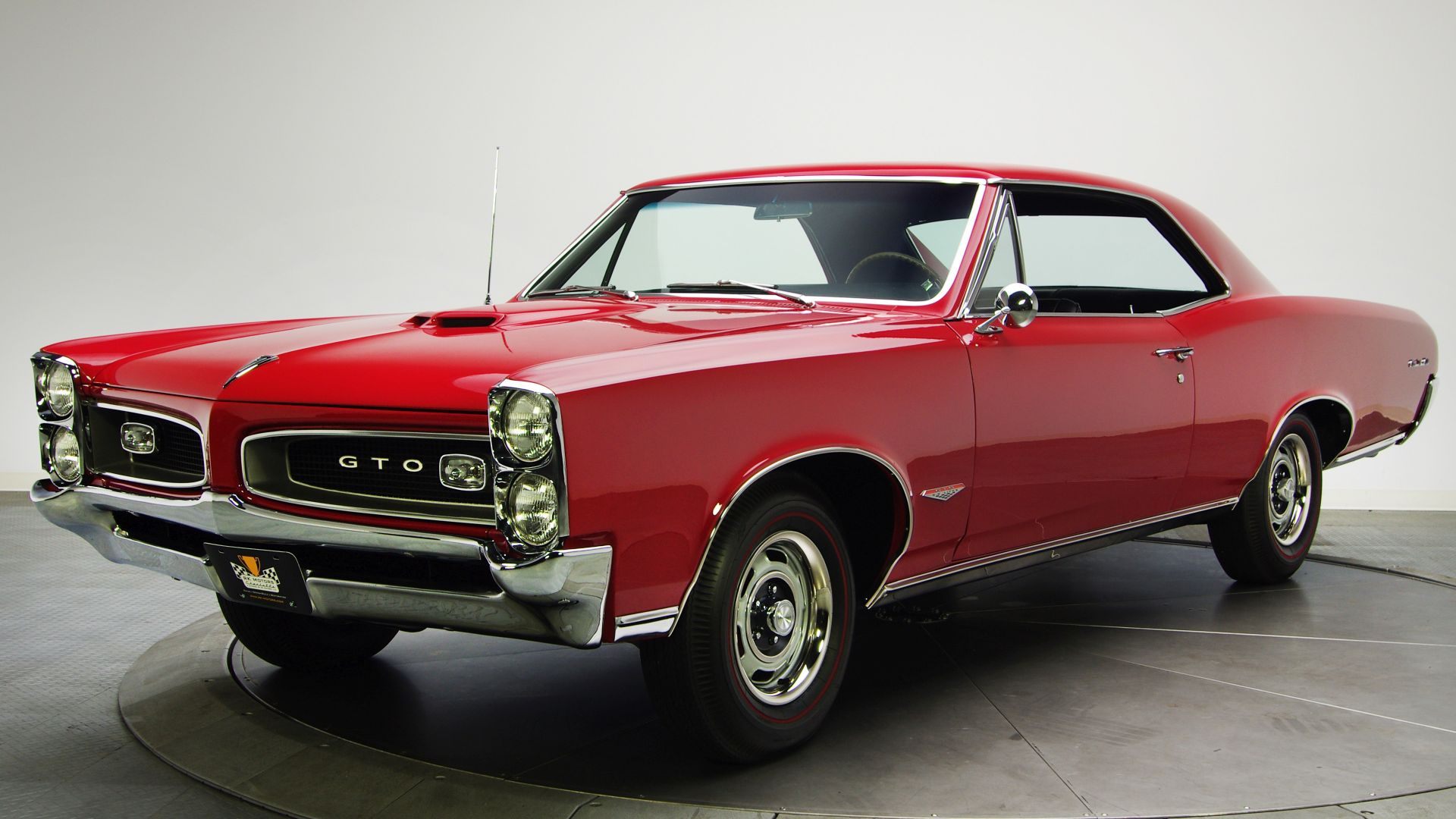 Wallpaper Pontiac GTO, red, classic car