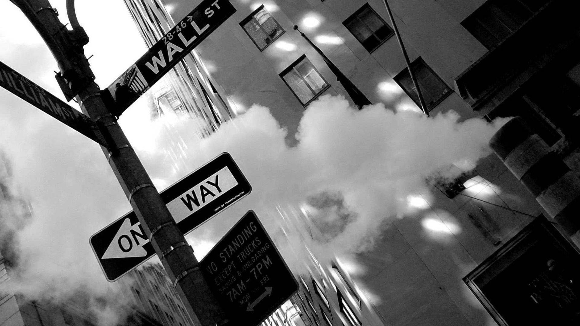 Wallpaper New york city street sign board