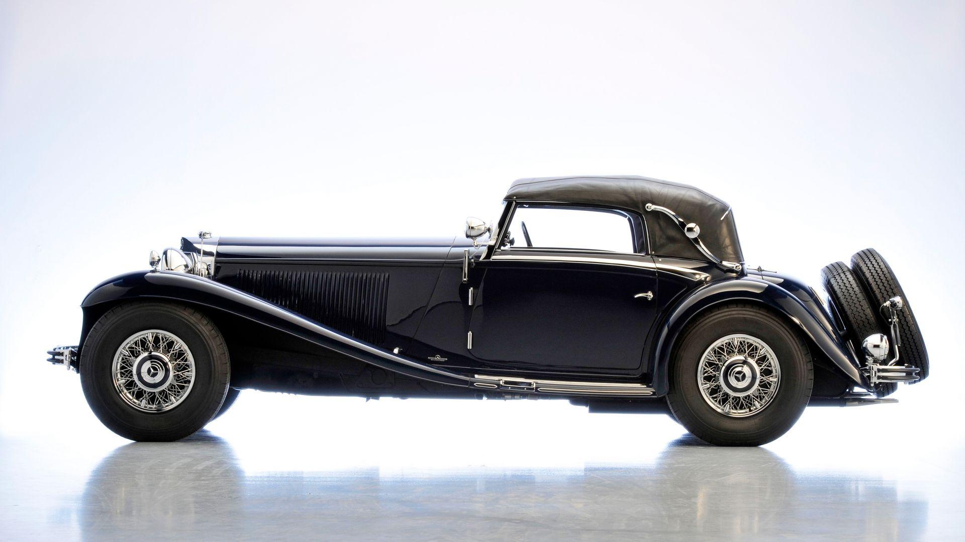 Desktop Wallpaper Mercedes Benz Classic Vintage Black Car