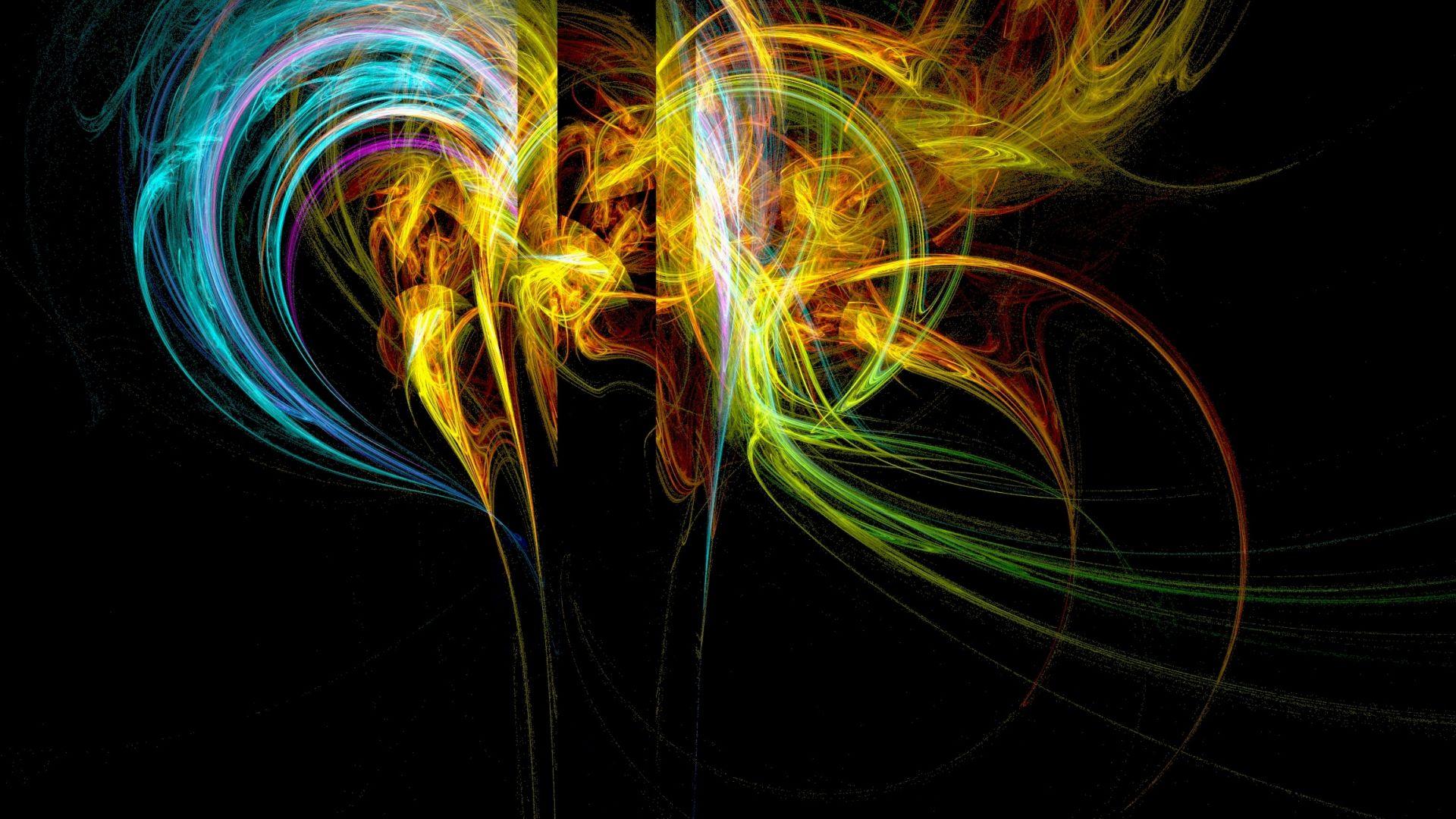 Wallpaper Abstract, digital art, colorful smoke