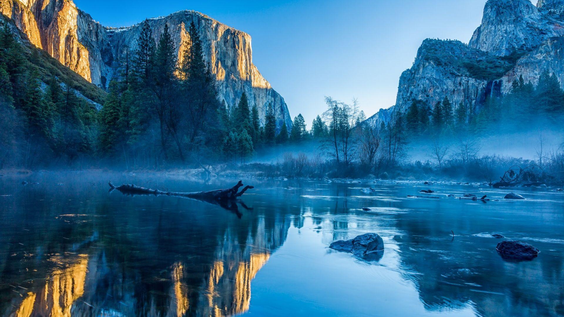 Desktop Wallpaper Yosemite National Park El Capitan Winter
