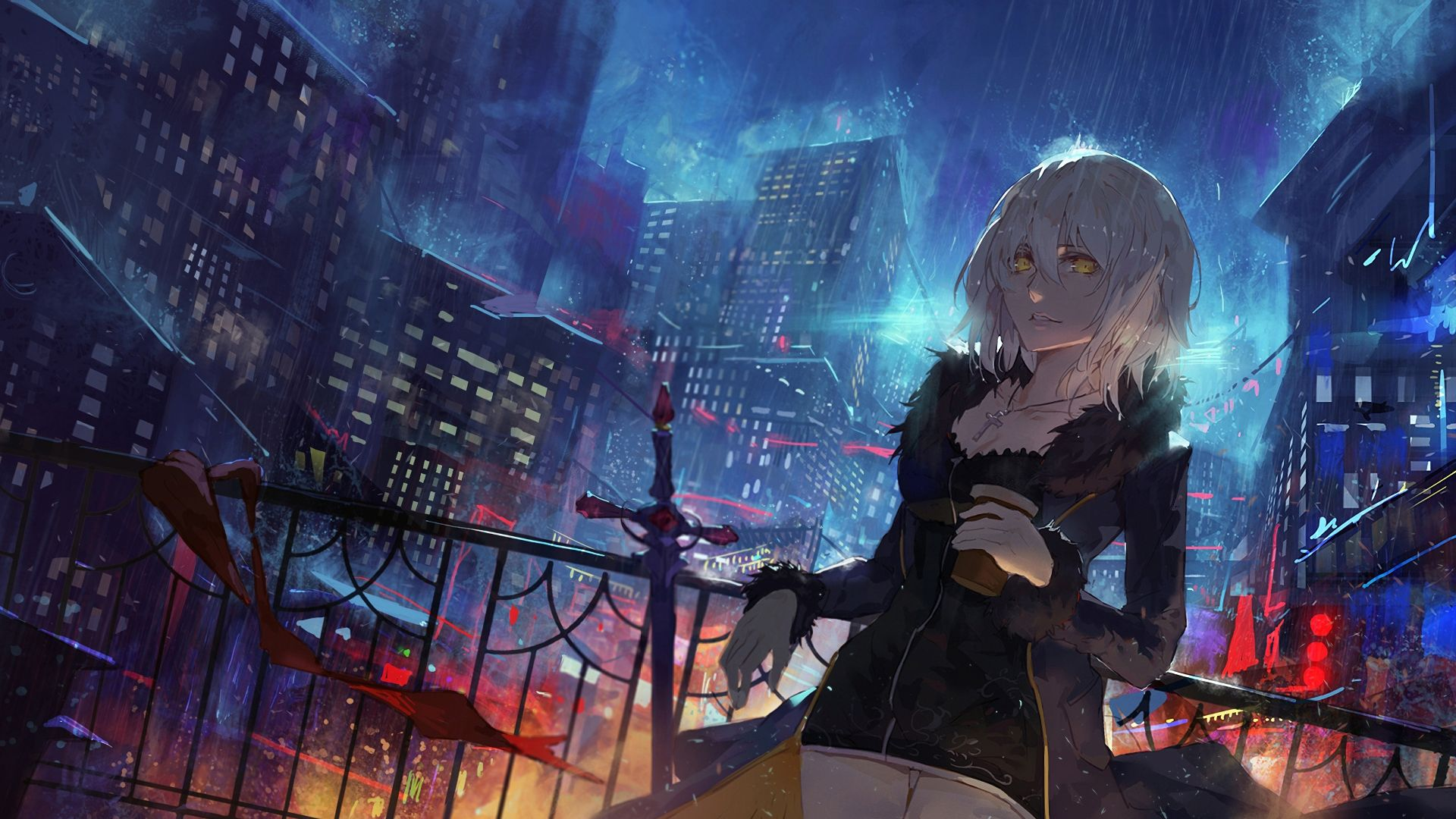 Desktop Wallpaper Jeanne D Arc Alter Fate Grand Order Anime Girl Hd Image Picture Background W Ixxg