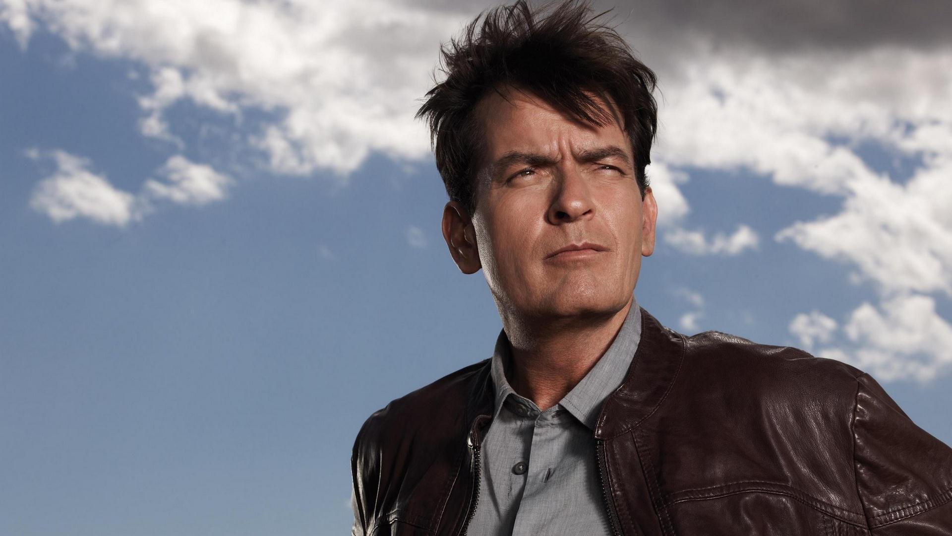 Wallpaper Anger Management TV series, Charlie Sheen, actor