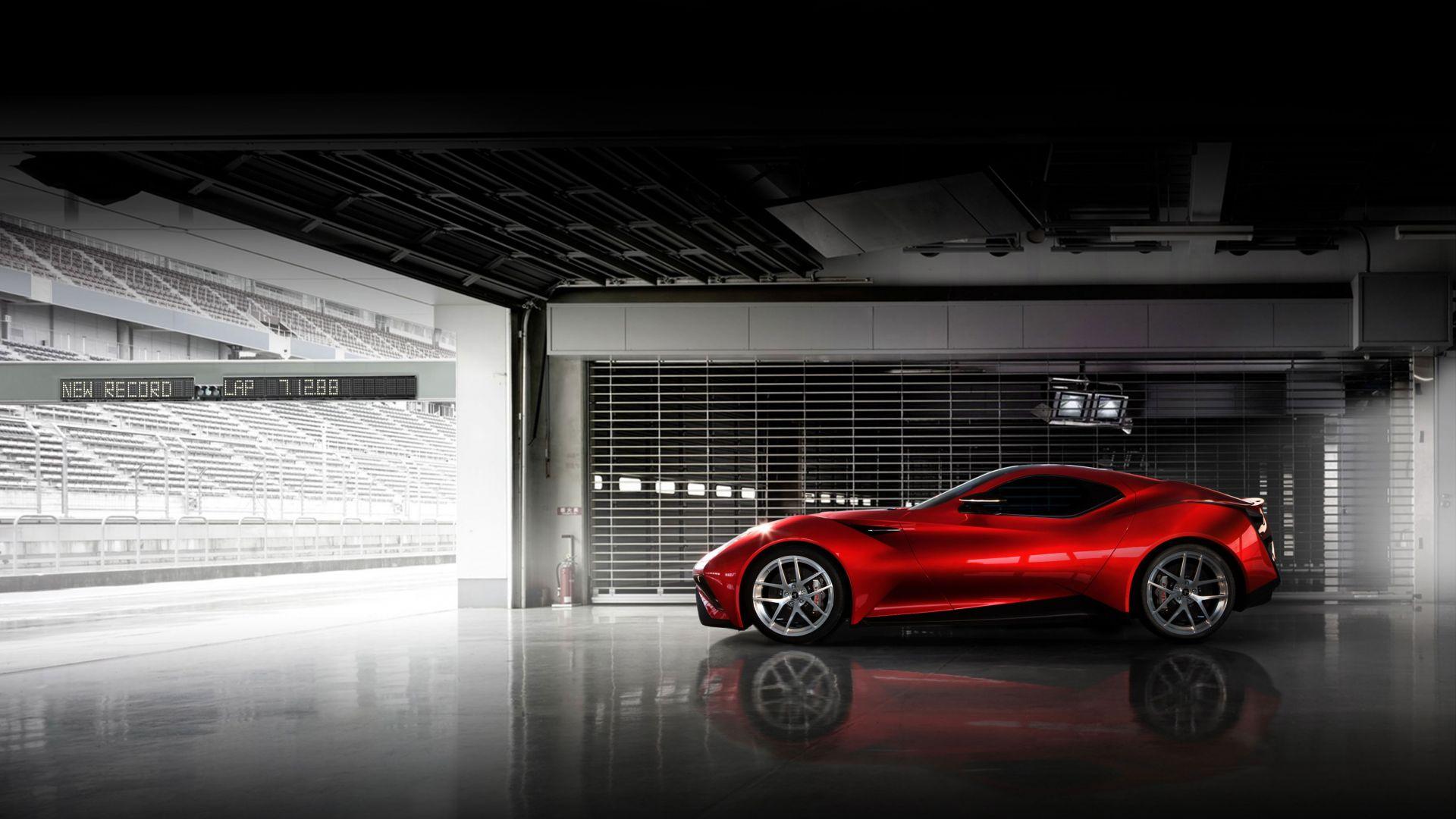 Wallpaper Icona vulcano hybrid car side view