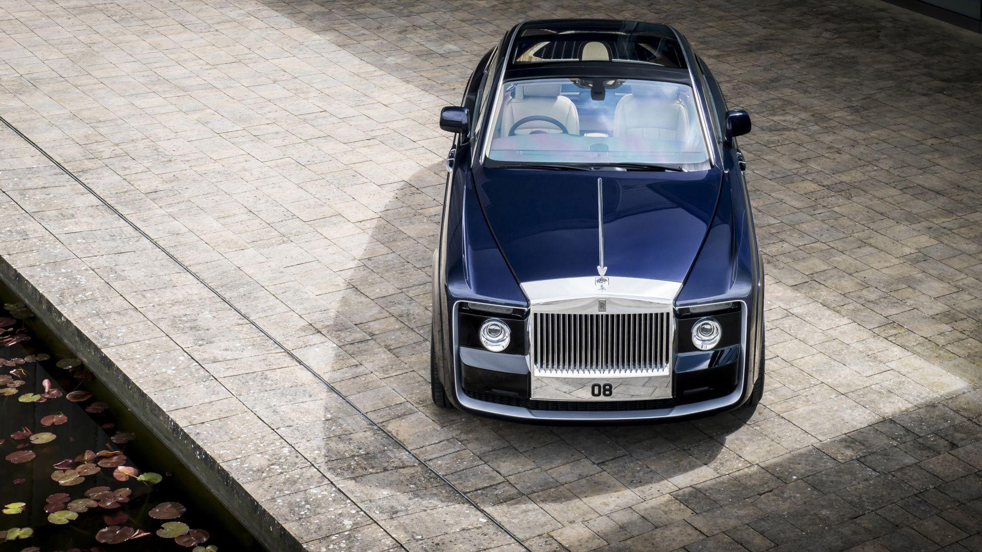 Wallpaper Blue 2017 Rolls-Royce Sweptail, luxury car