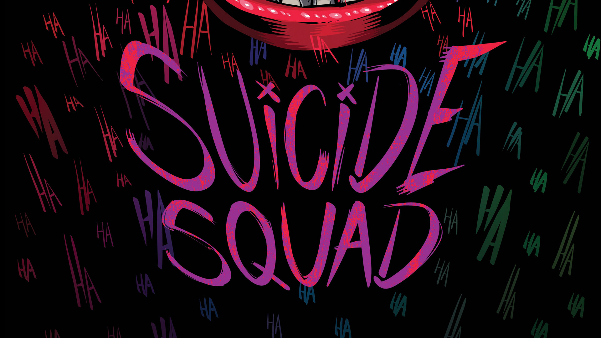 Wallpaper Suicide squad typography