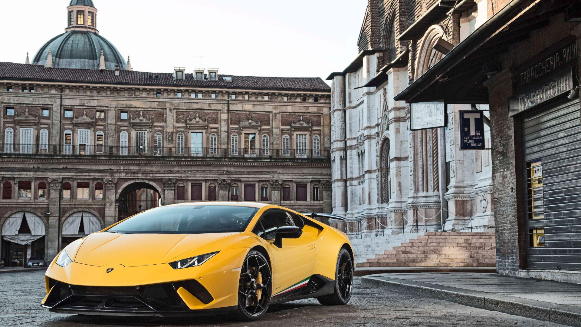 Desktop Wallpaper Lamborghini Huracan Performante Front View