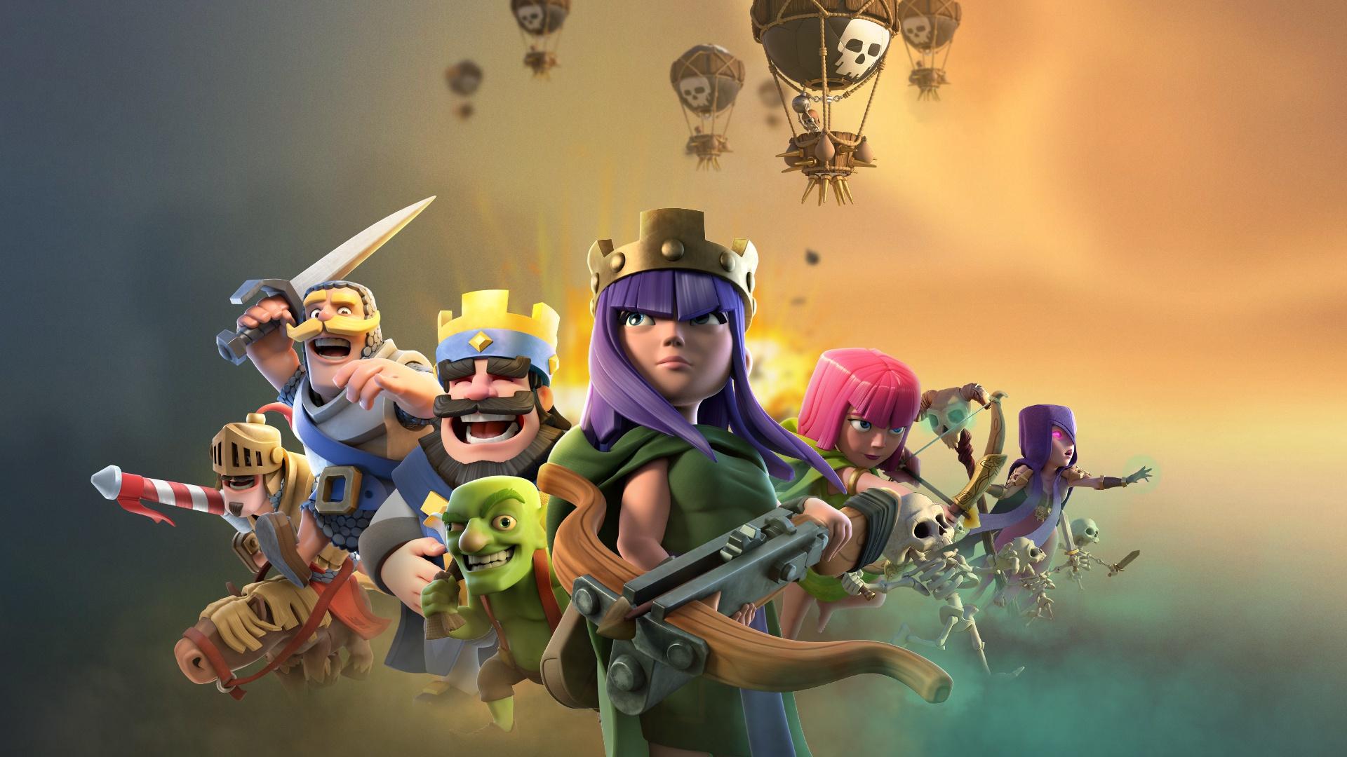 Barbarian Clash Of Clans Hd Hd Games 4k Wallpapers: Desktop Wallpaper Clash Of Clans, Mobile Game, Archer