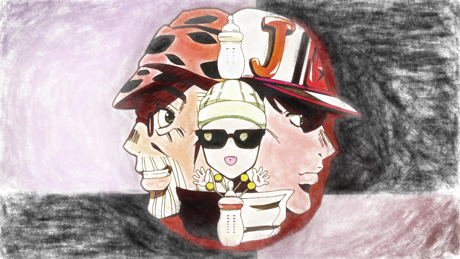 Desktop Wallpaper Joseph, Joestar, Jotaro, Kujo, Anime