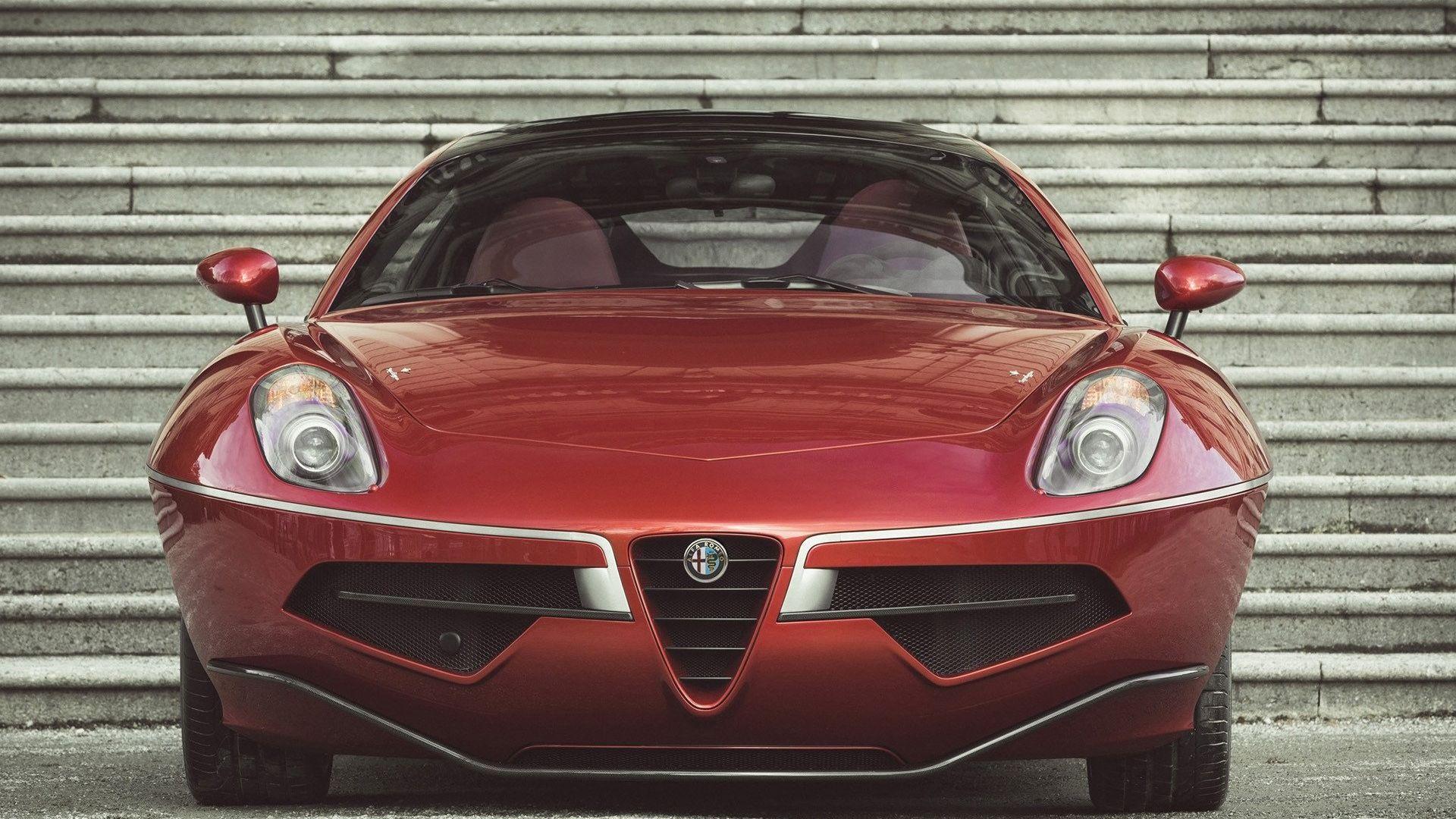 Wallpaper Alfa Romeo Disco Volante car, front view