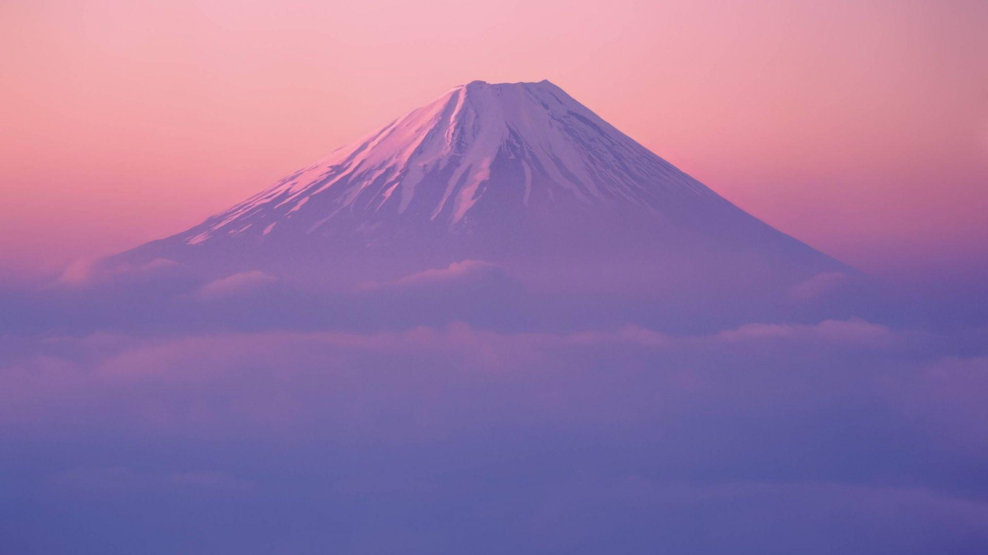 Wallpaper Mount fuji, clouds, nature, hd