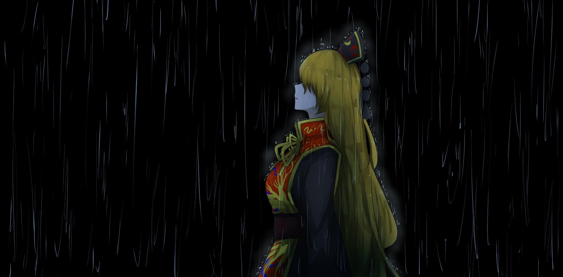 Wallpaper Blonde hair, rain, Junko, Touhou