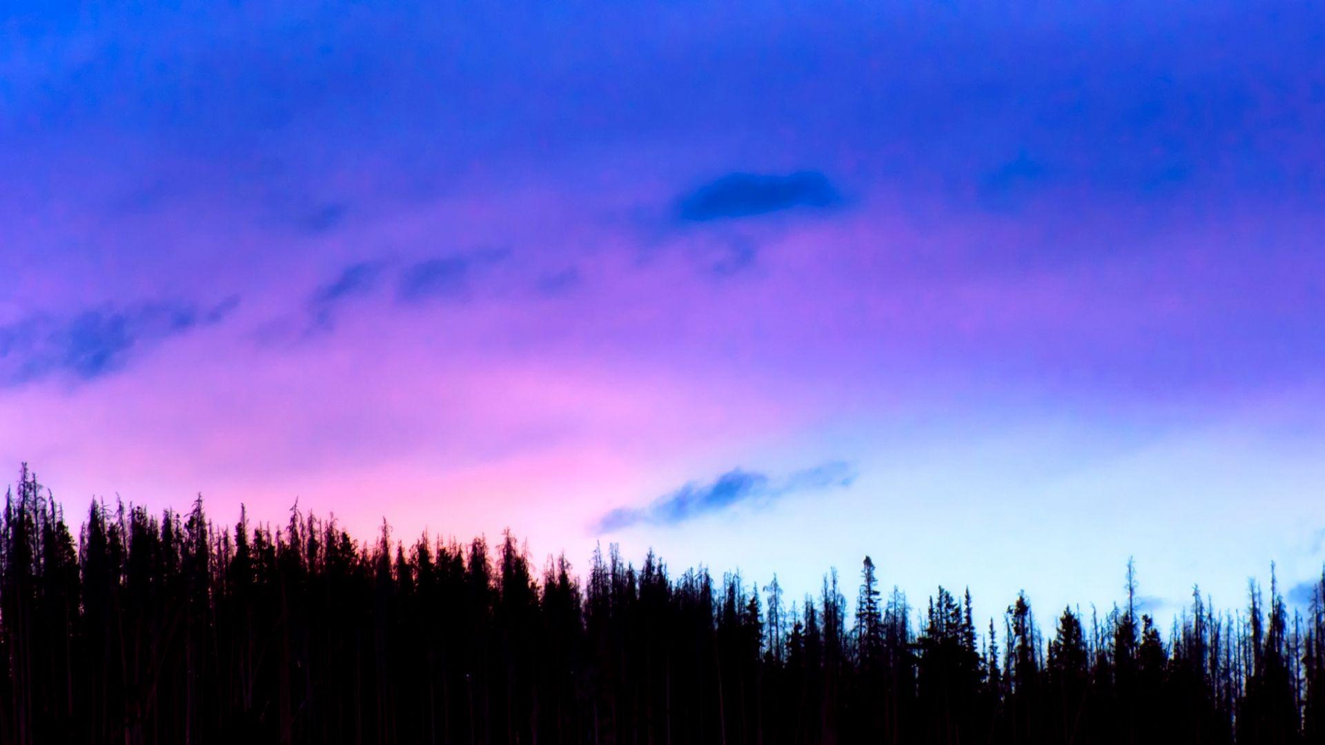 Wallpaper Sky, clouds, landscape, blue, nature