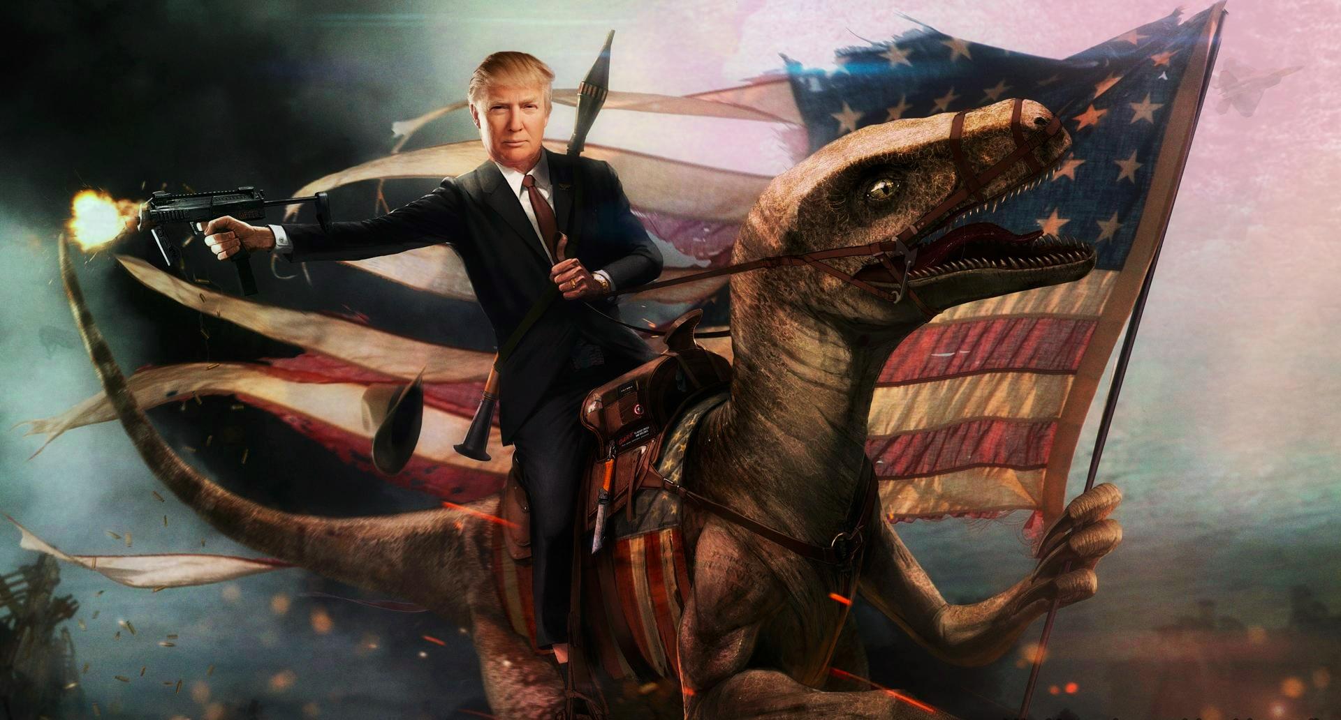 Desktop Wallpaper Donald Trump Digital Artwork Hd Image Picture