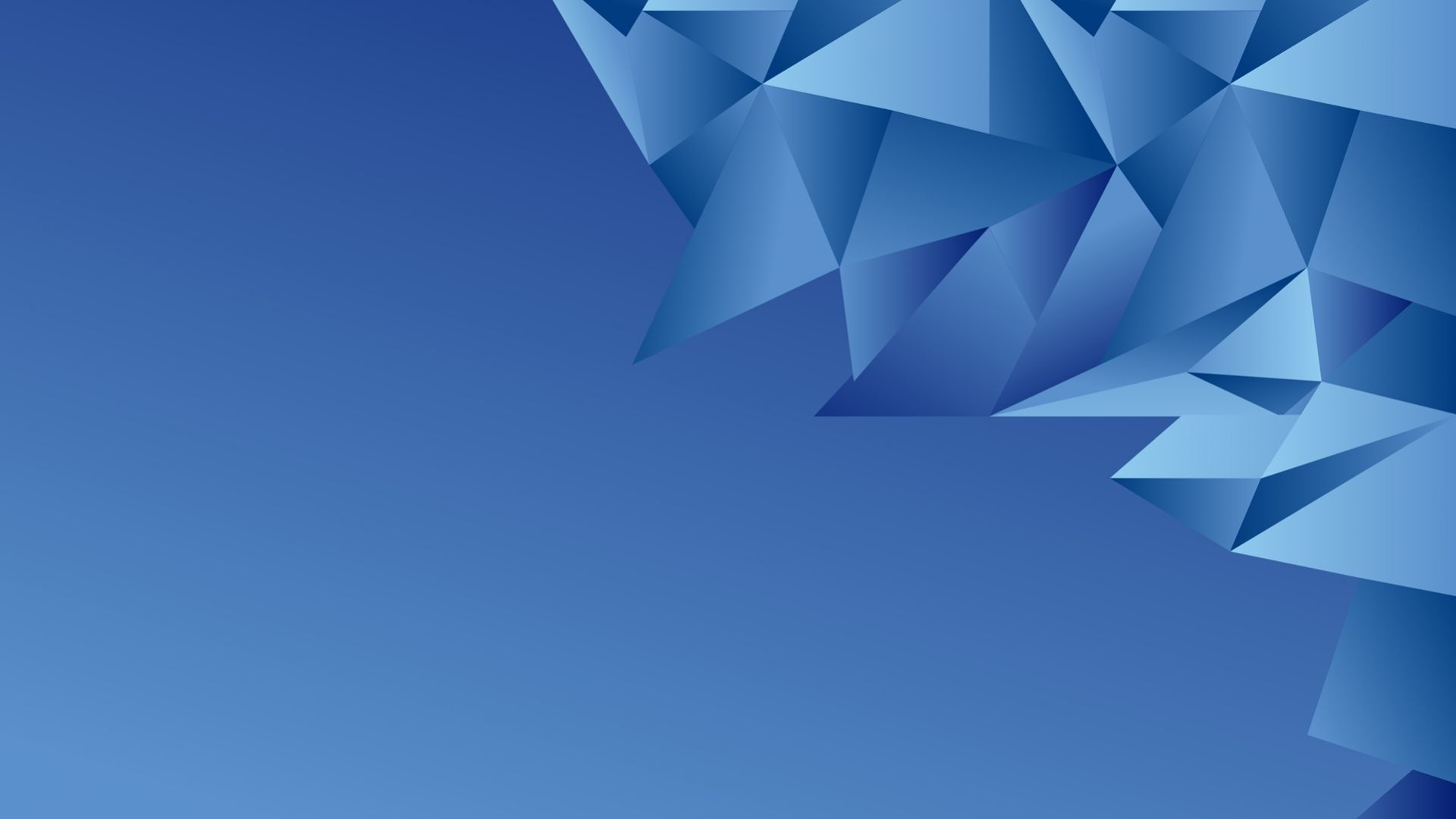 Wallpaper Blue abstract, triangles