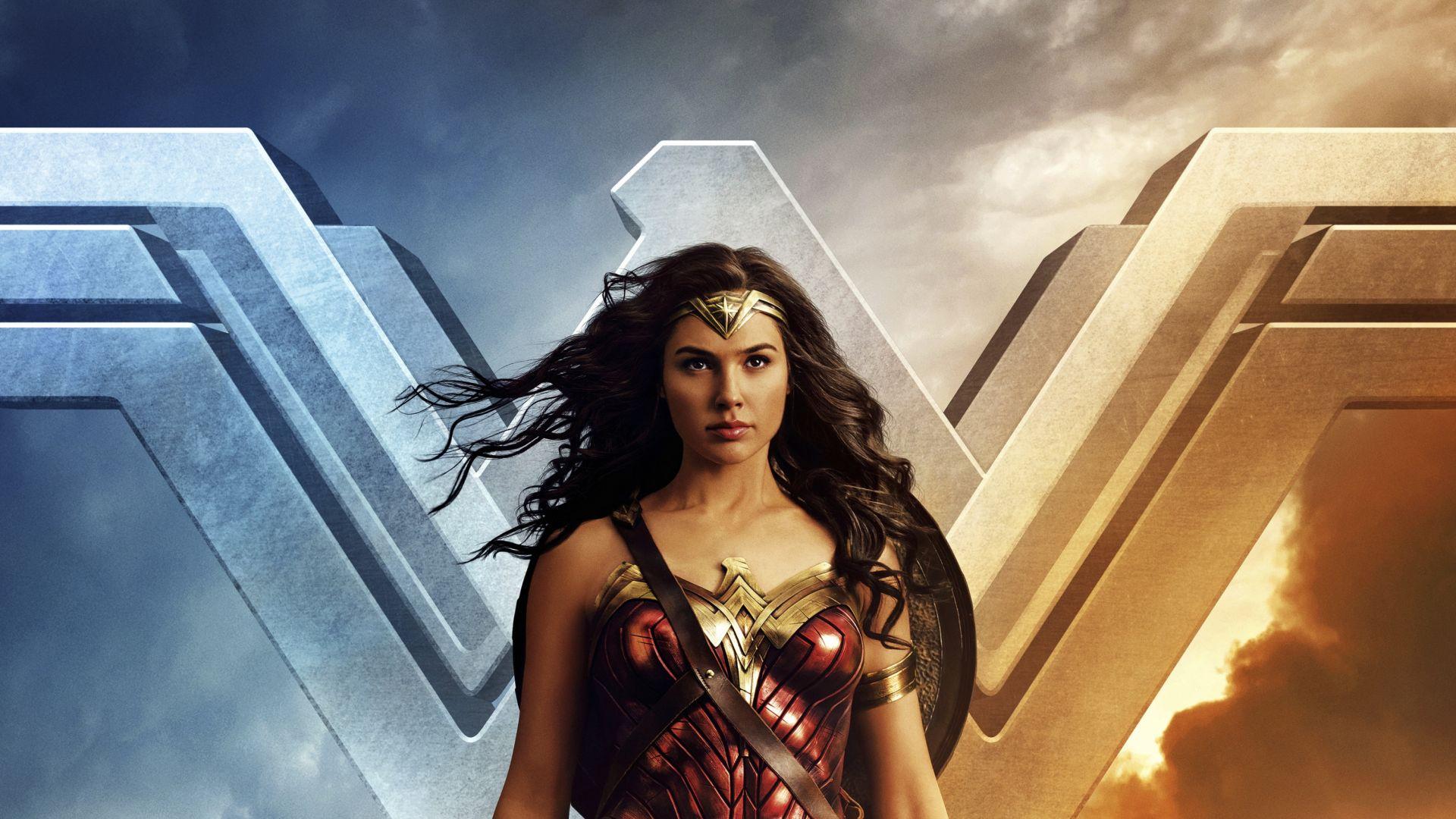 Wonder Woman Movie Wallpaper 1: Desktop Wallpaper Wonder Woman, Logo, Gal Gadot, Movie