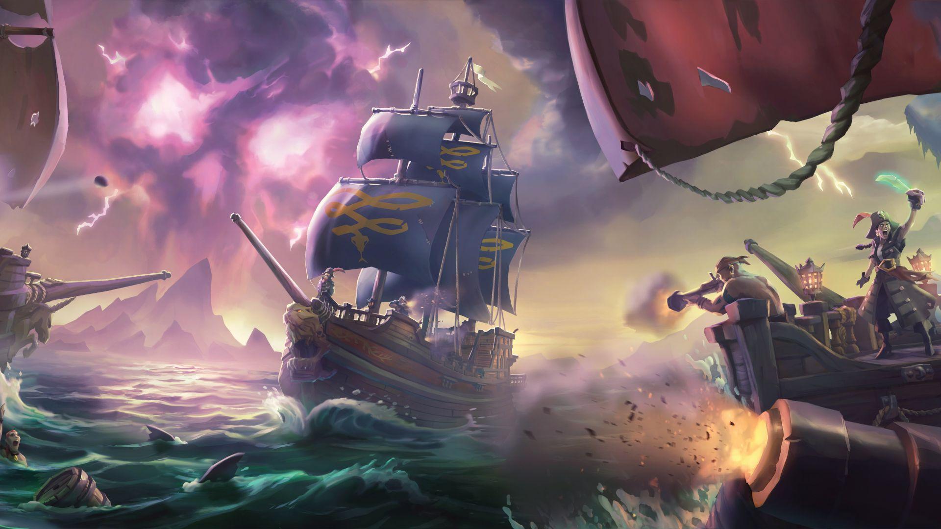 Wallpaper Sea of Thieves, video game, 2017 game, 4k, 5k